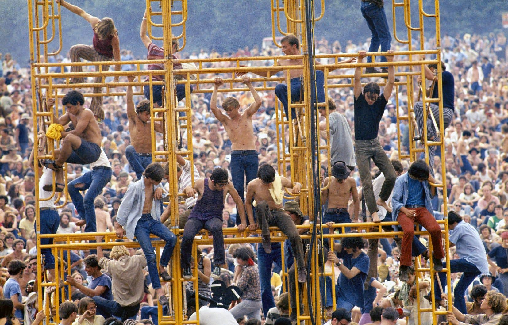 Des images d'archives du festival Woodstock