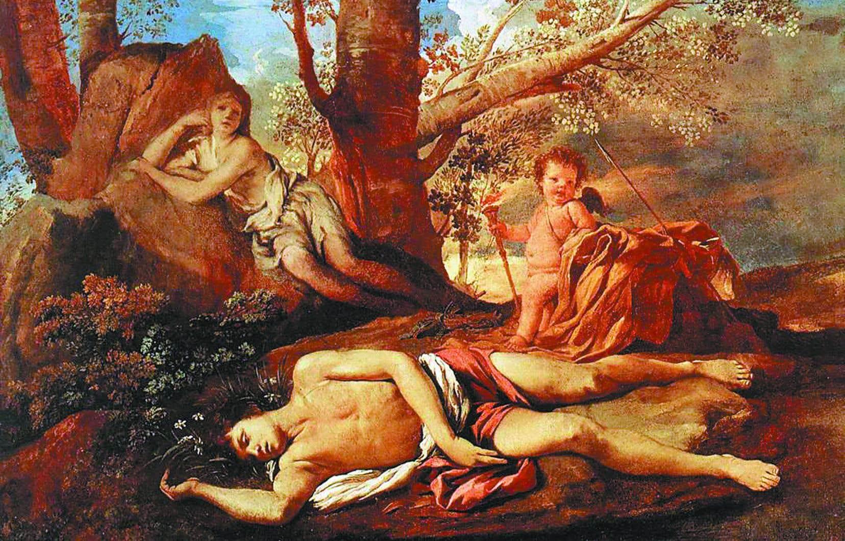 «Écho et Narcisse», une toile de Nicolas Poussin datant de 1630