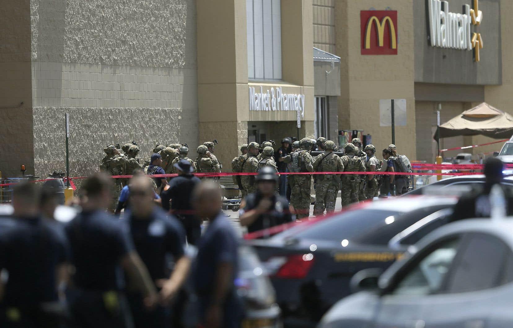 La fusillade est survenue dans un hypermarché Walmart d'El Paso, dans le sud des États-Unis.