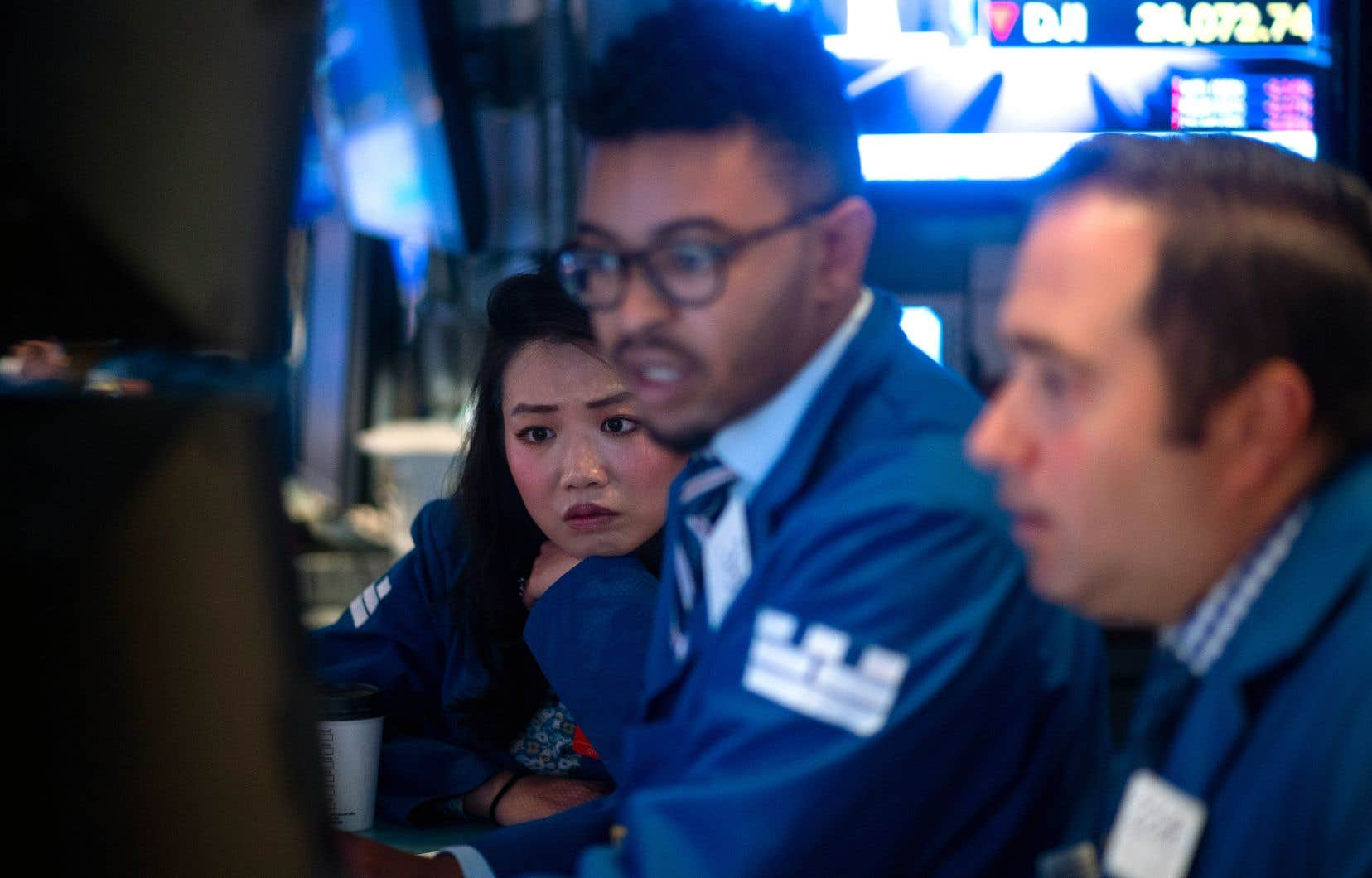 L'inquiétude se lisait sur les visages lundi à la Bourse de New York.