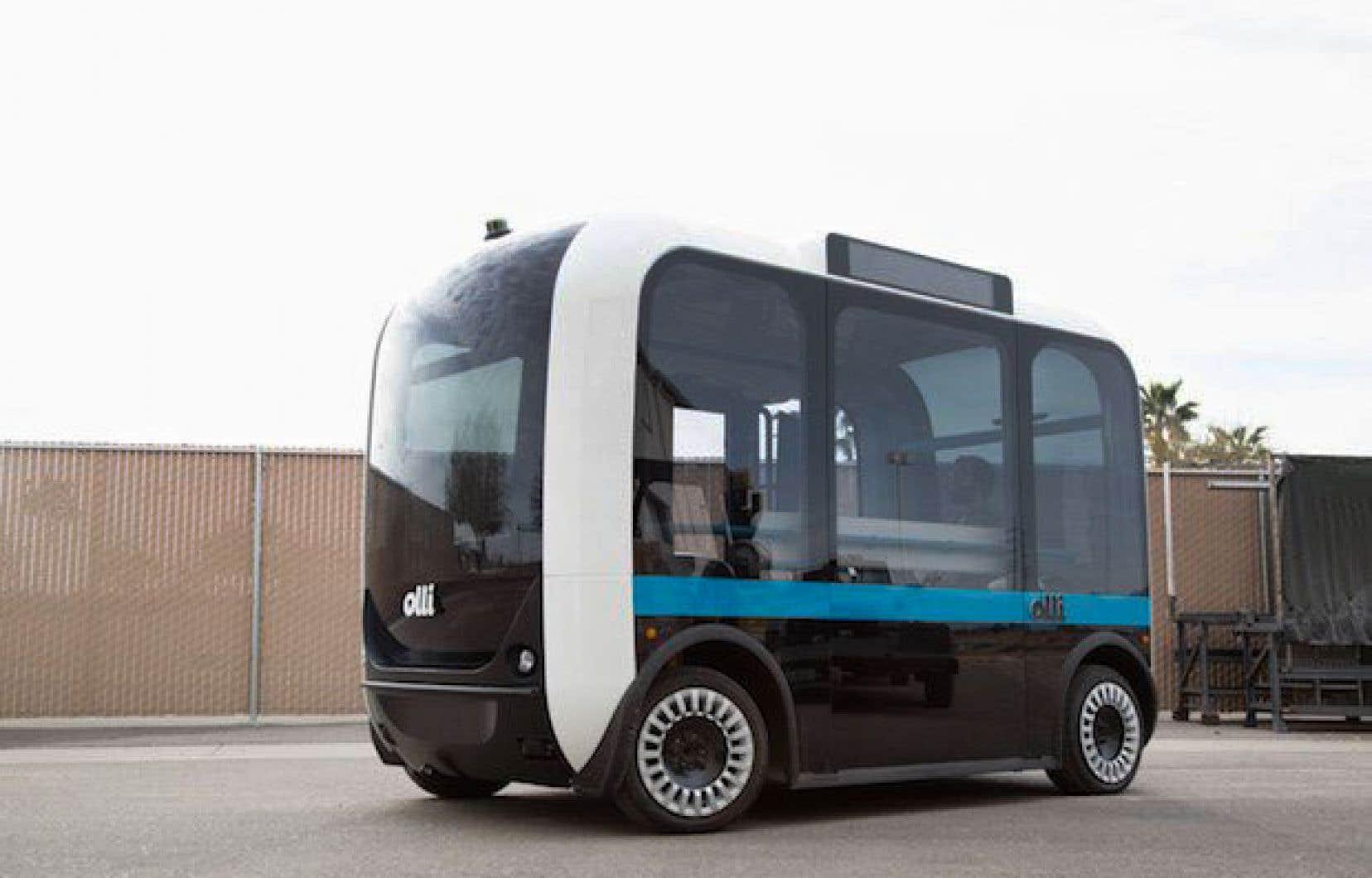 Les navettes autonomes sont des minibus guidés par une intelligence artificielle.