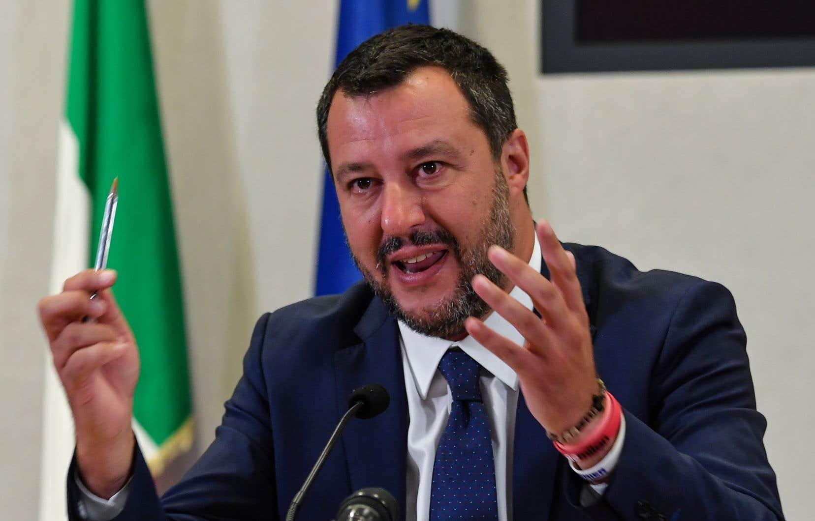 Le vice-premier ministre et chef de la Ligue,Matteo Salvini
