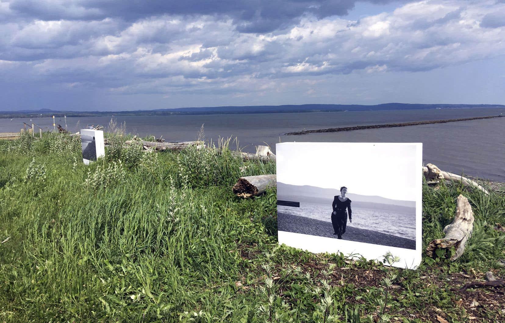 Vue de l'exposition «Partenza» de Renata Poljak à Maria