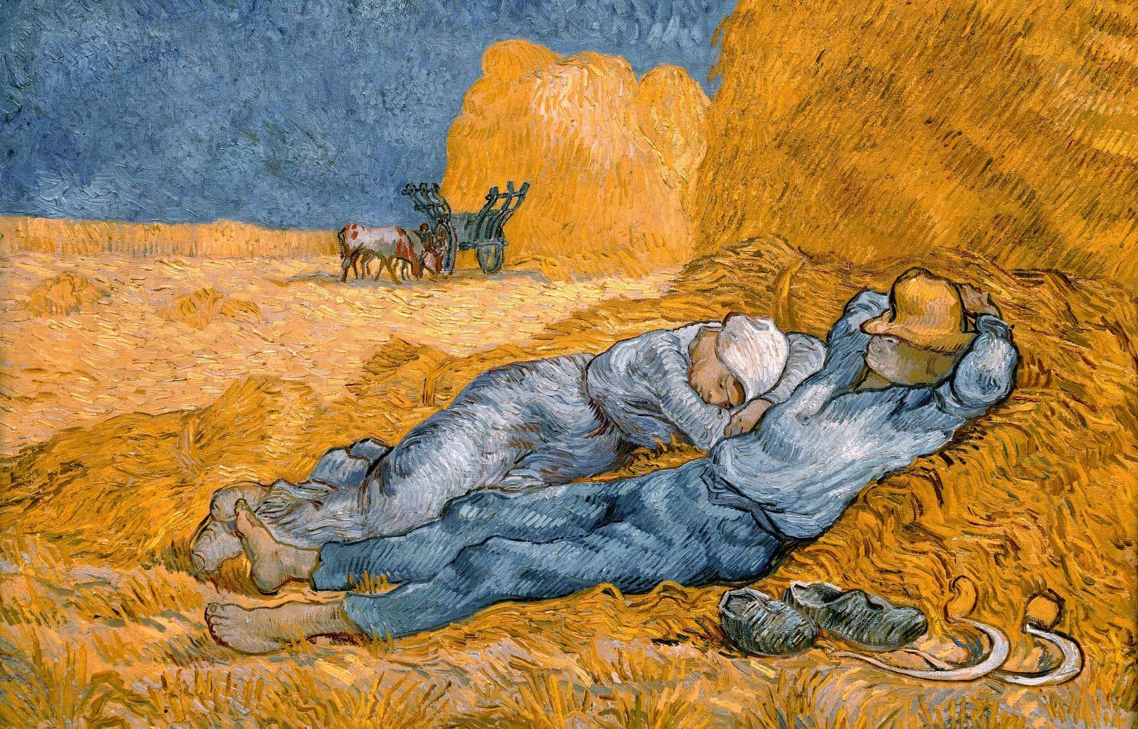 Les représentations artistiques de la sieste sont nombreuses à faire allusion aux controverses que renferme ce moment de repos à l'apparence anodine, comme dans «La méridienne ou La sieste (d'après Millet)», de Vincent Van Gogh.