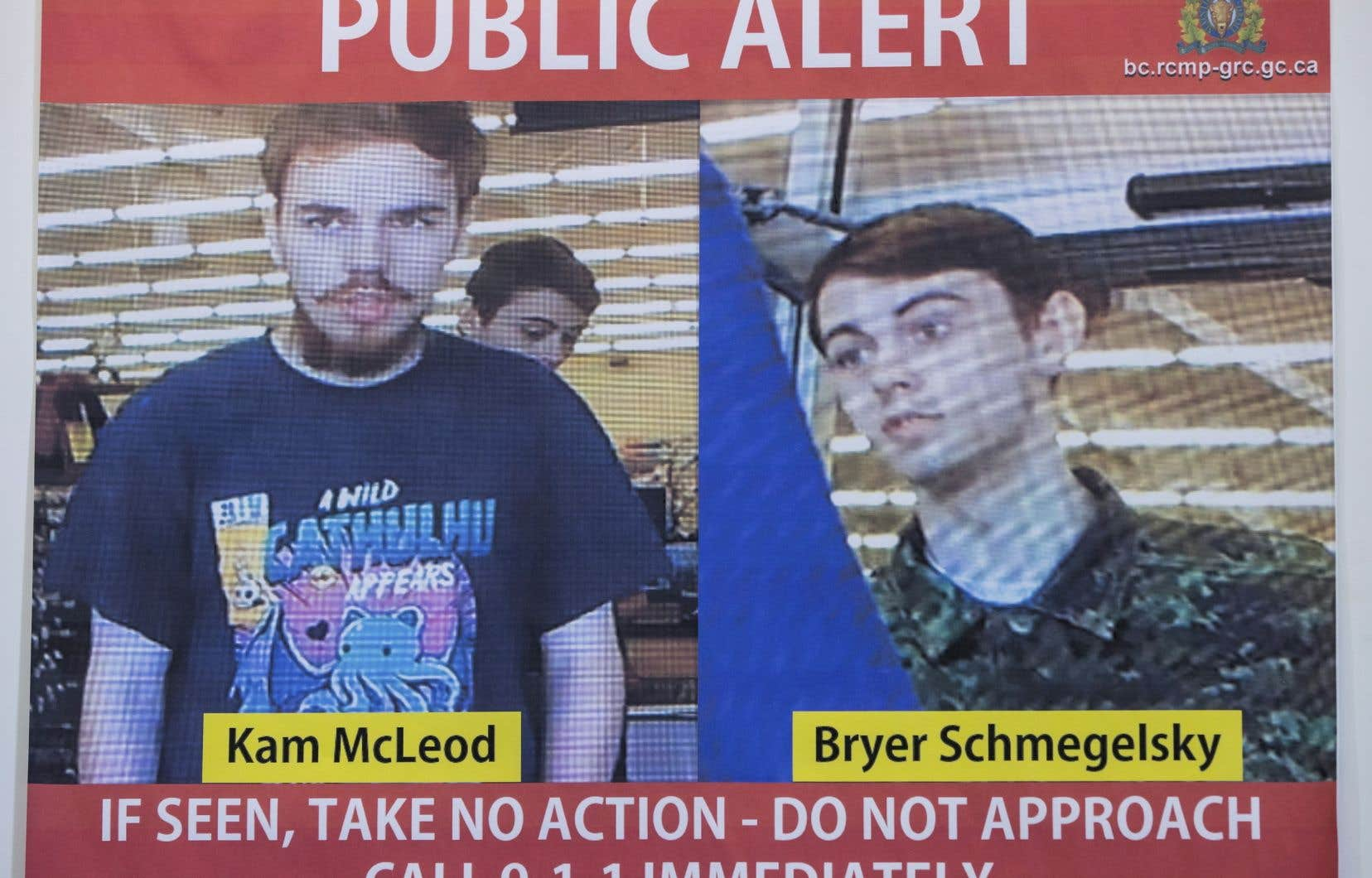 Kam McLeod et Bryer Schmegelsky sont soupçonnés d'avoir commis un triple homicide en Colombie-Britannique.