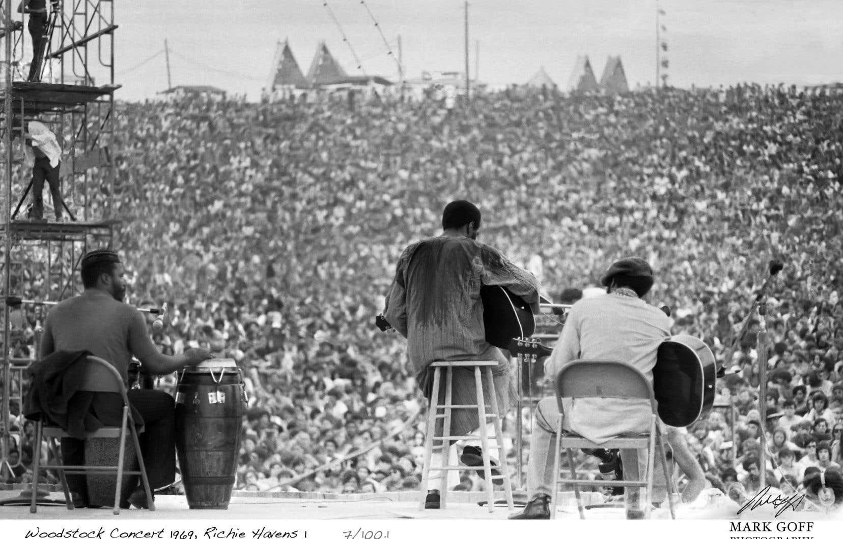 La prestation de Richie Havens, en 1969, est une des plus emblématiques de Woodstock.