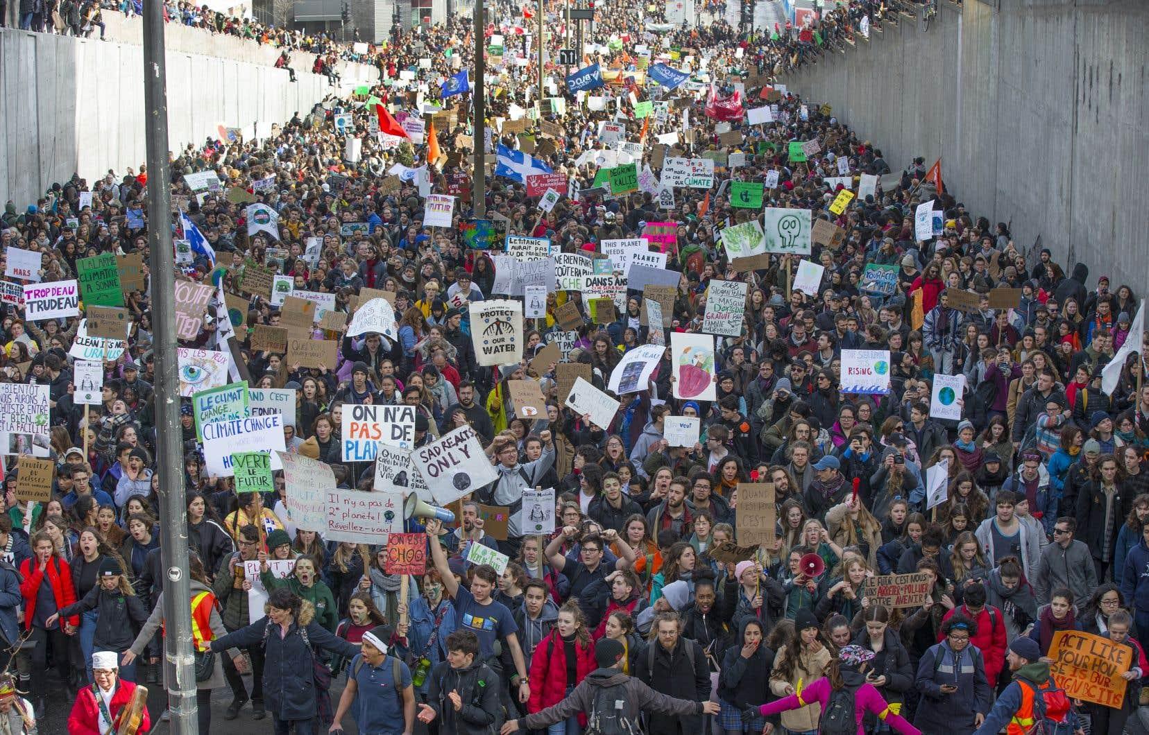 Mobilisation des jeunes pour le climat, à Montréal, en mars dernier