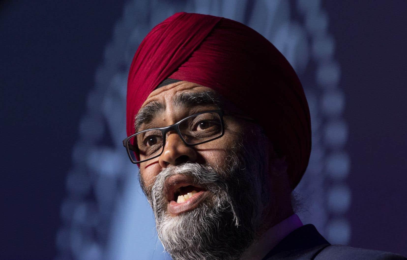 Le ministre fédéral de la Défense nationale, Harjit Sajjan