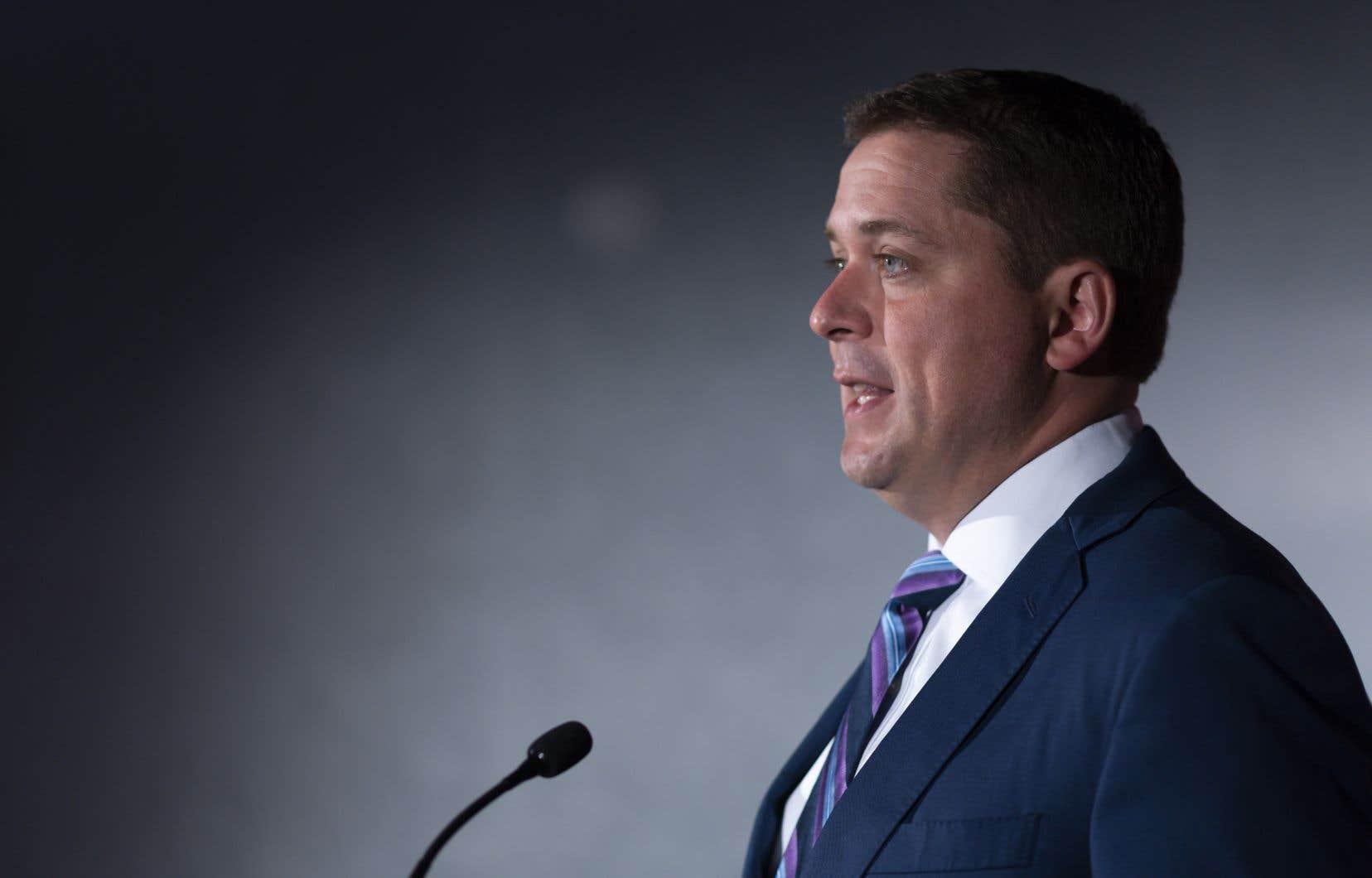 Andrew Scheer a écrit lundi à la GRC pour lui suggérer d'enquêter sur une possible «entrave à la justice» de Justin Trudeau dans le dossier SNC-Lavalin.