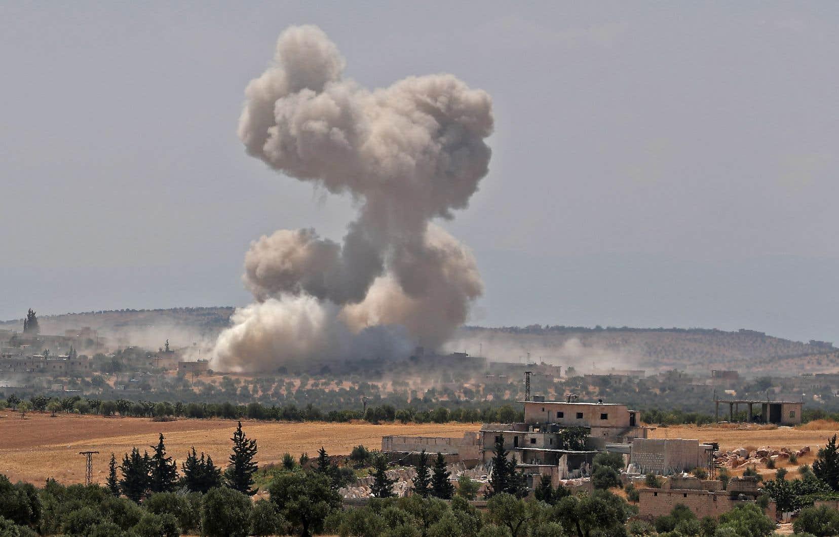 La province d'Idleb, dans le nord-est de la Syrie, est la cible depuis fin avril de bombardements quasi quotidiens de Damas et de Moscou.