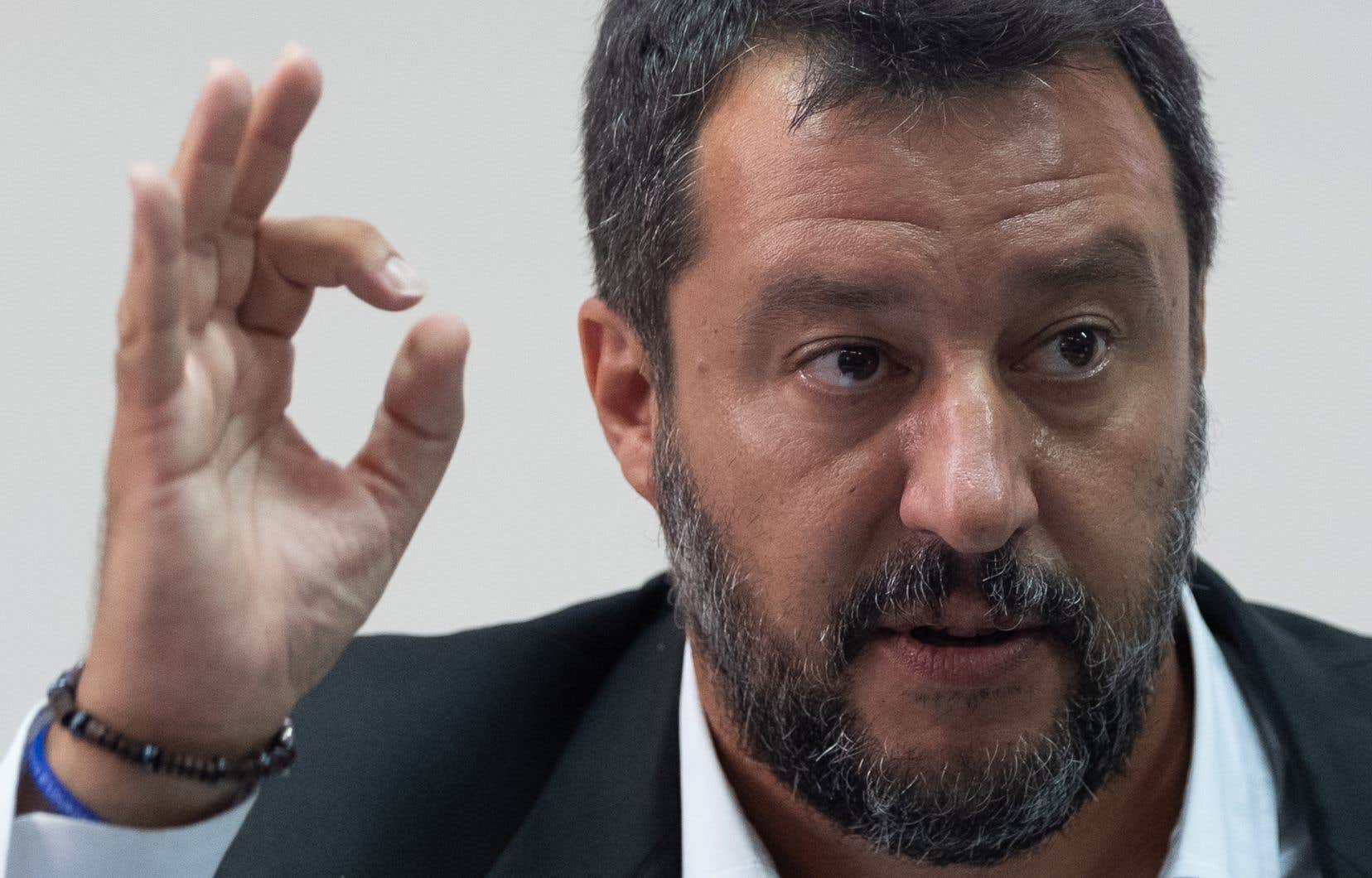 Le chef de la Ligue, Matteo Salvini