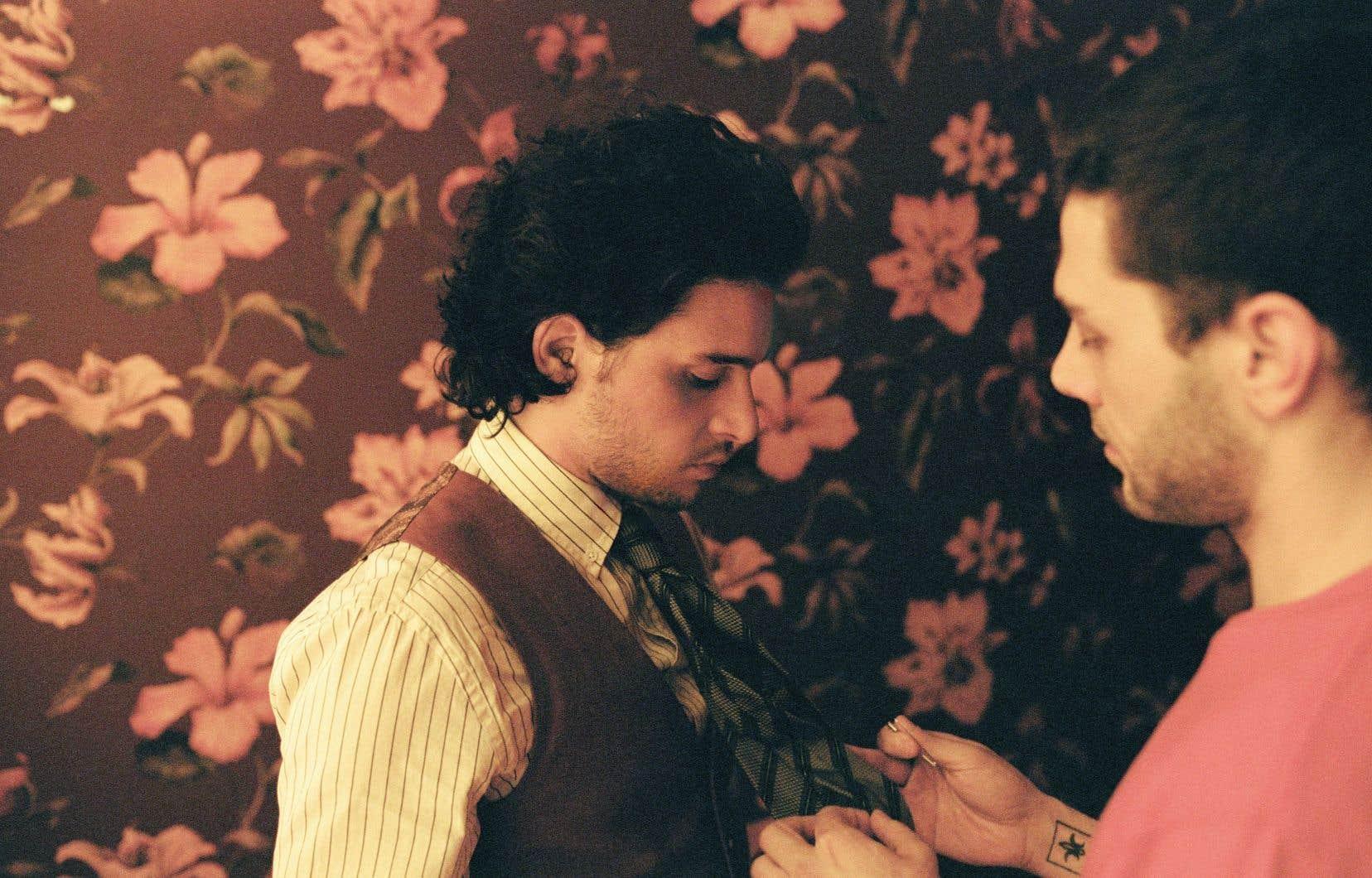 L'acteur anglais Kit Harington et le réalisateur québécois Xavier Dolan lors du tournage du film.