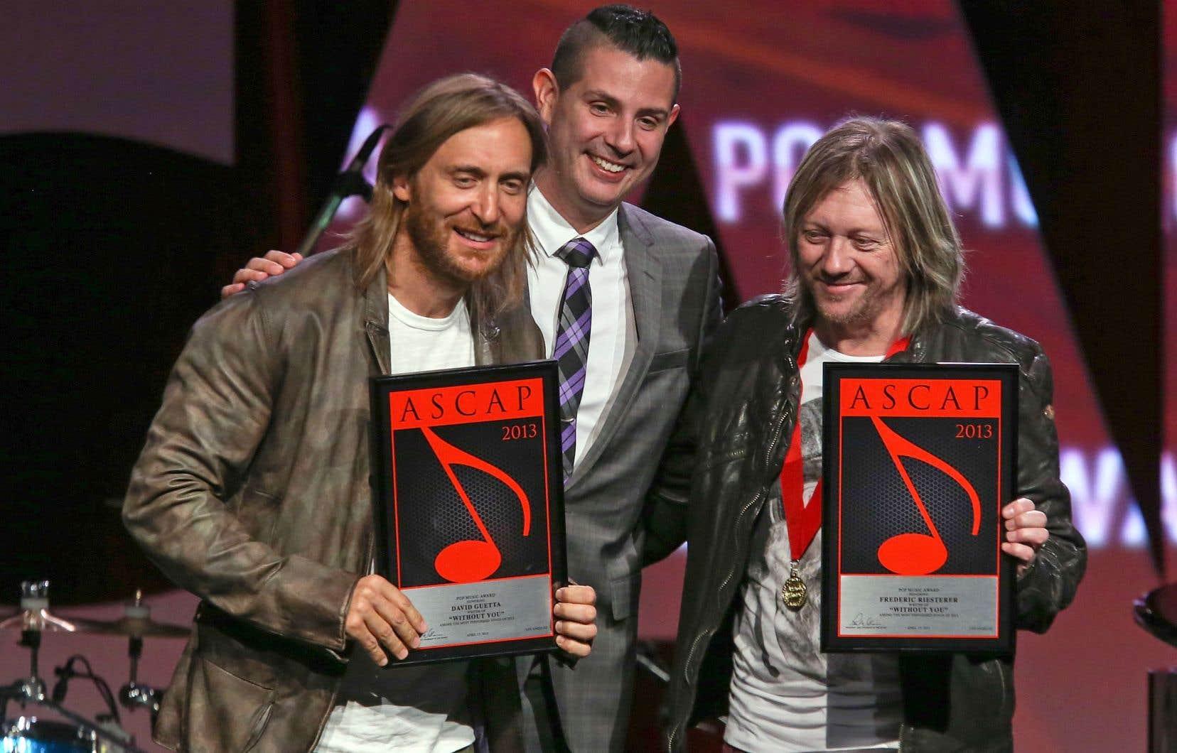 Fred Rister (à droite), de son vrai nom Frédéric Riesterer, a collaboré avec David Guetta (à gauche) depuis les années 2000 et coécrit plusieurs grands succès.