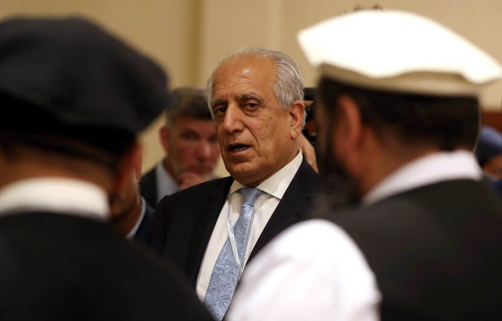 L'émissaire américain Zalmay Khalilzad lors d'un dialogue interafghan en juillet dernier