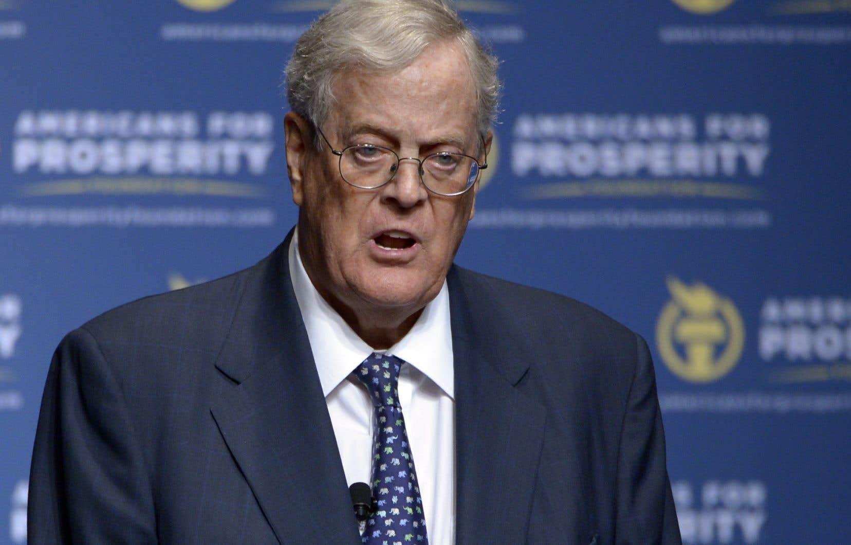 David Koch, qui avait 79ans, contrôlait avec son frère Koch Industries, la deuxième plus grande entreprise non cotée des États-Unis.