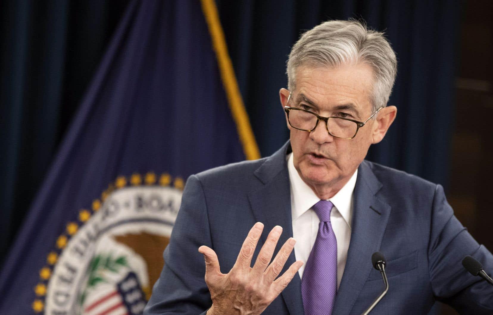 Jerome Powell a prévenu que la politique monétaire n'avait «pas de mode d'emploi» tout prêt et que la guerre commerciale constituait «un nouveau défi» pour la Fed.