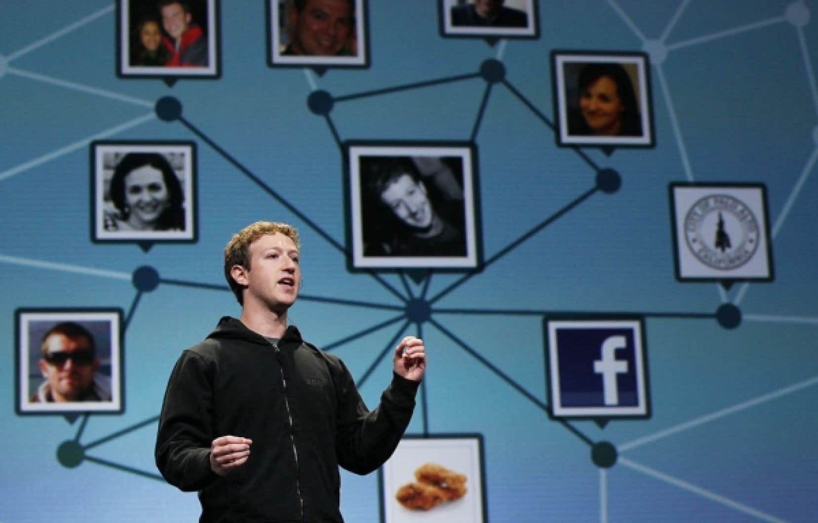 Mark Zuckerberg, fondateur de Facebook.<br />