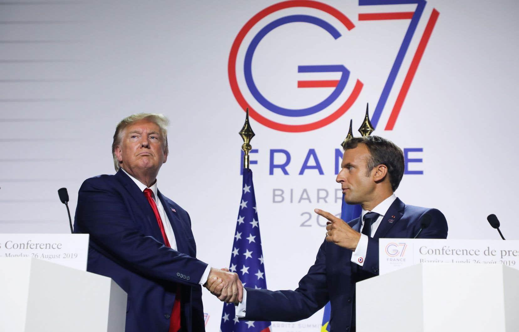 Donald Trump s'est montré ouvert à une rencontre avec son homologue iranien lors d'une conférence de presse commune avec Emmanuel Macron.