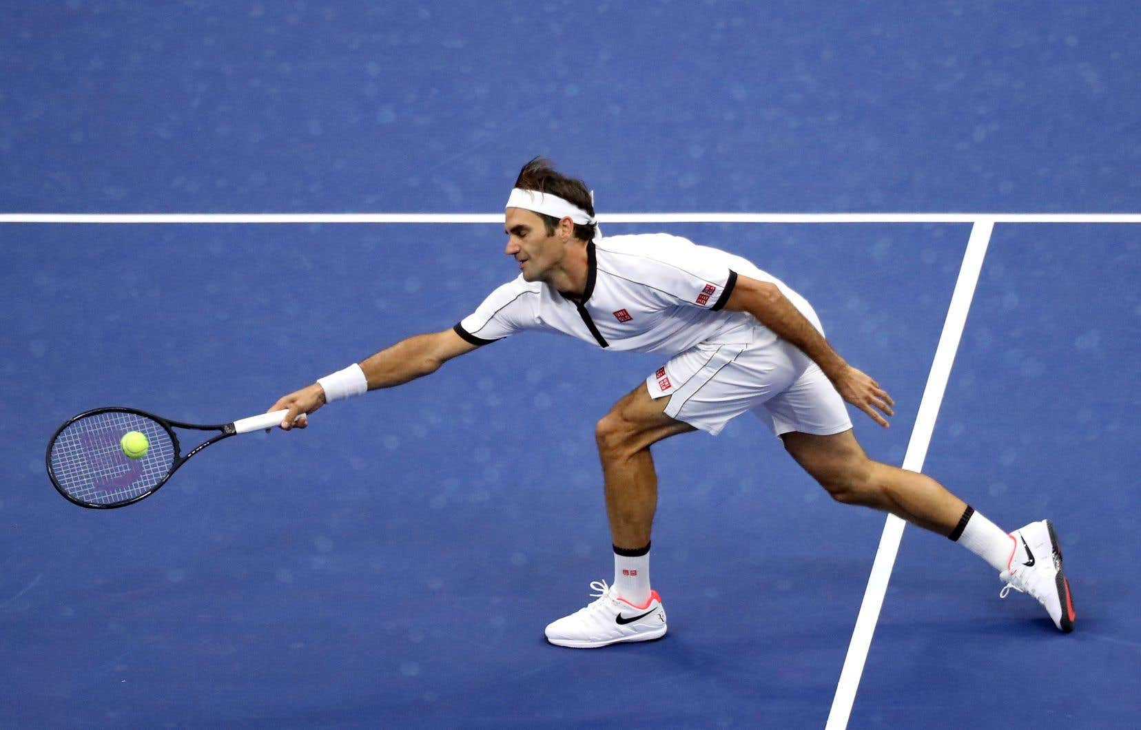 Roger Federer (en photo) a perdu lundi le premier set de son premier match de l'US Open 2019, avant de dominer l'Indien Sumit Nagal (190e joueur mondial et issu des qualifications) 4-6, 6-1, 6-2, 6-4.
