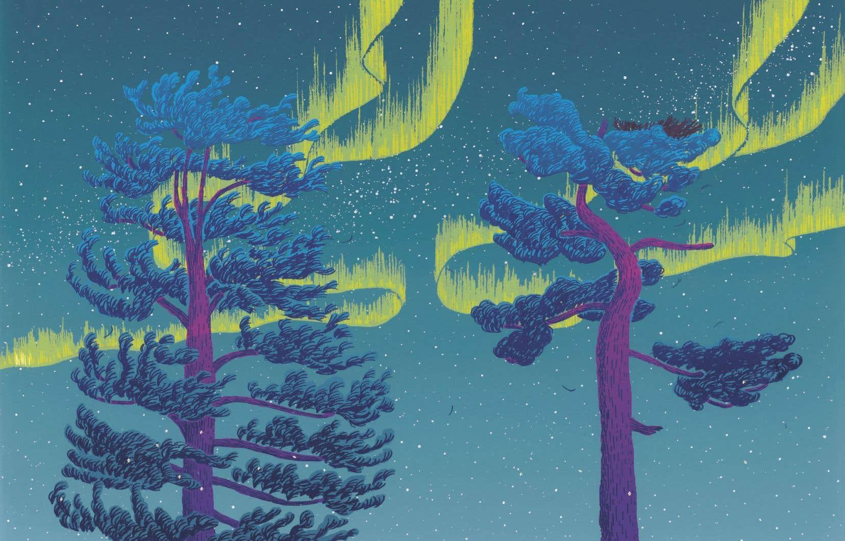 Une illustration tirée de «Quand le vent souffle»