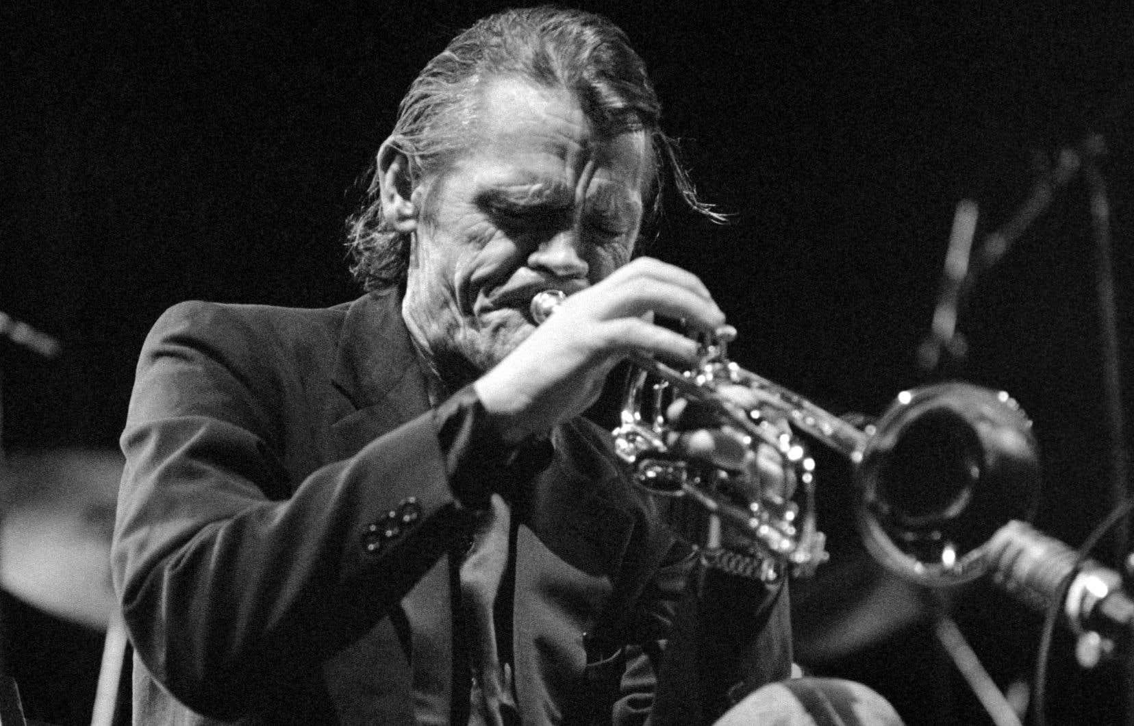 Le trompettiste Chet Baker au festival Le Printemps de Bourges, le 20 avril 1987