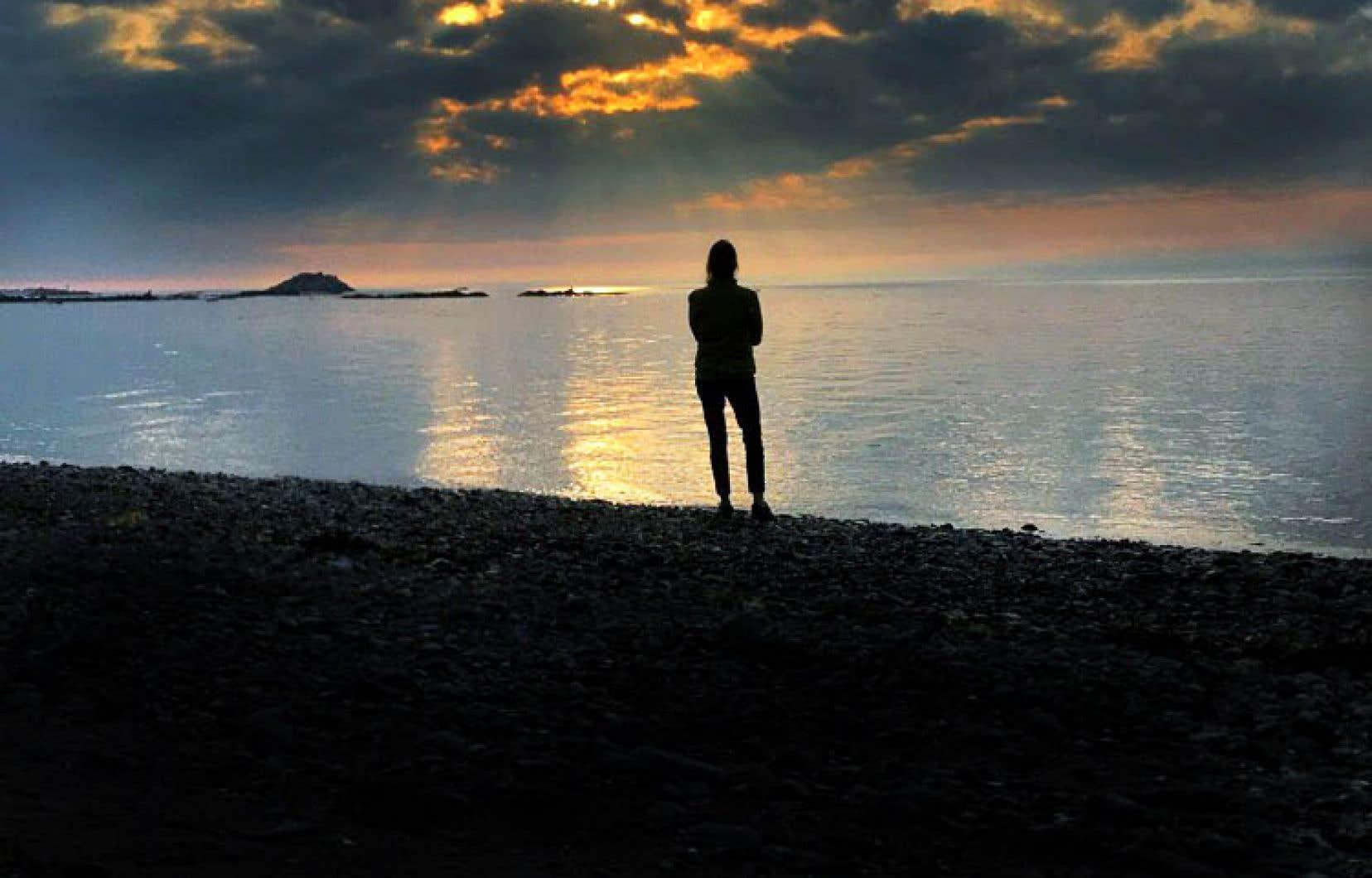 Il ne faut pas sous-estimer l'influence du large. Joblo face au soleil couchant de Métis-sur-Mer.