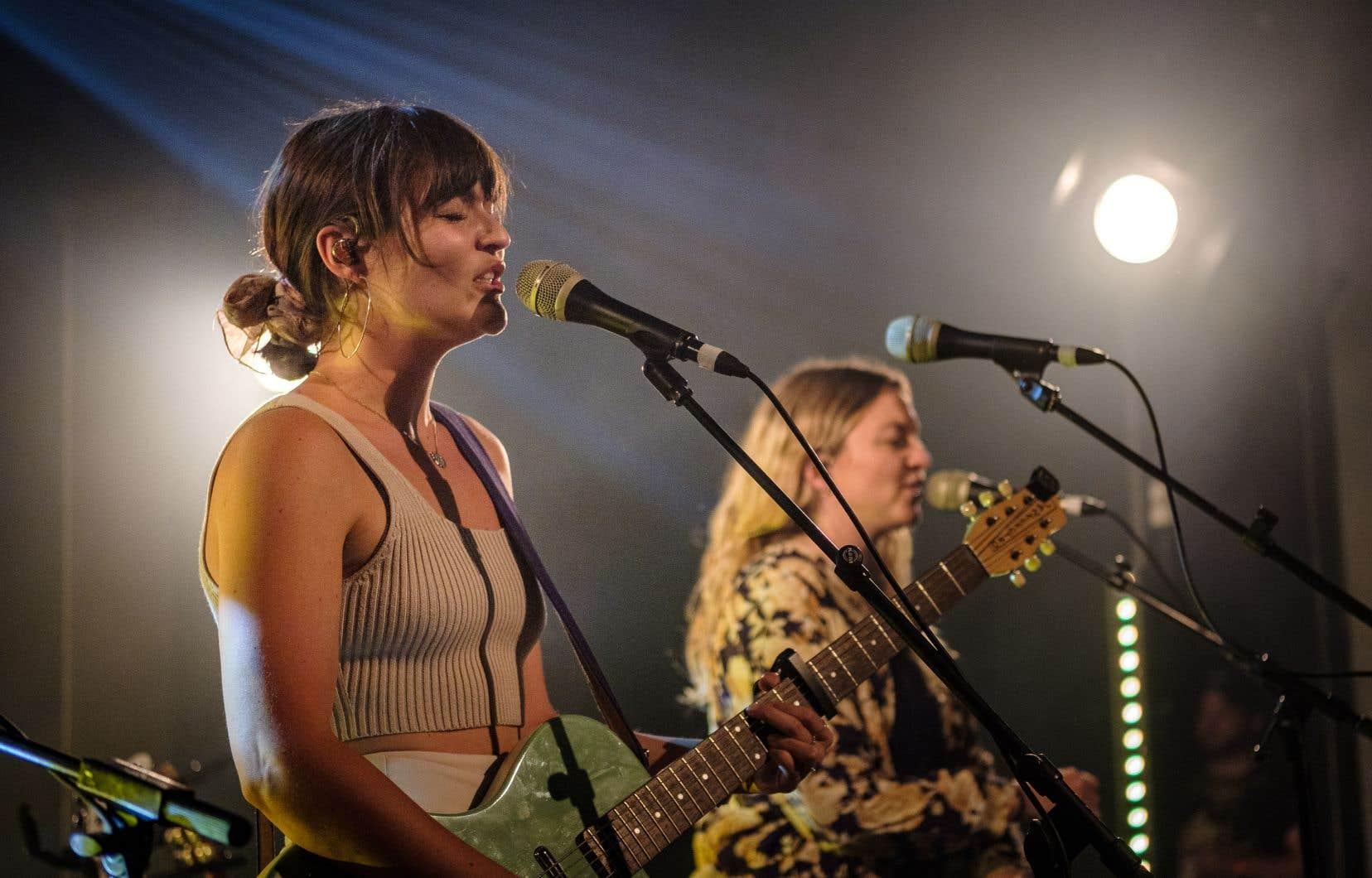 Stéphanie et Mélanie Boulay ont offert en primeur plusieurs chansons tirées de leur nouvel album, qui paraîtra vendredi prochain.