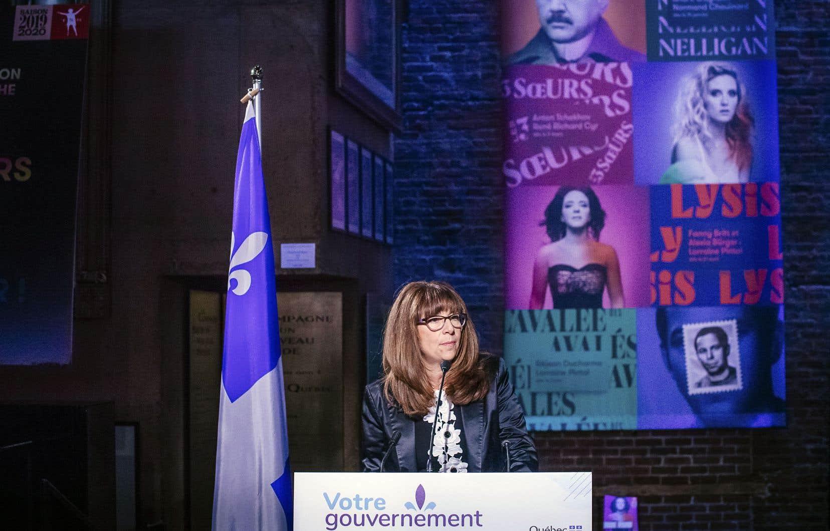 La ministre de la Culture et des Communications, Nathalie Roy, a annoncé, mardi, l'octroi de 11,9 millions de dollars pour le projet d'agrandissement du Théâtre du Nouveau Monde, qui est à l'étude depuis 2010.