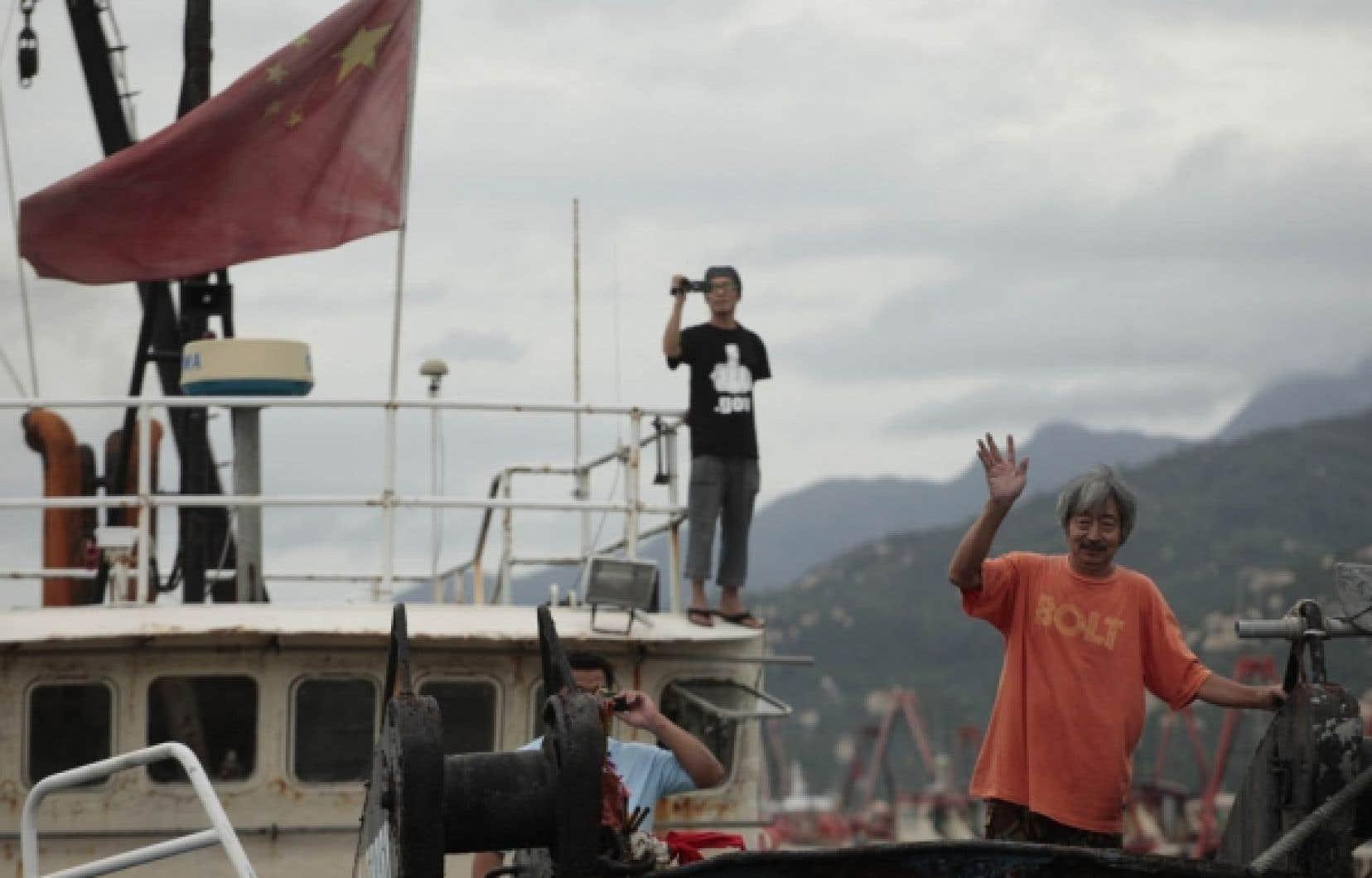 L'incident naval a suscité des manifestations en Chine cette semaine.<br />