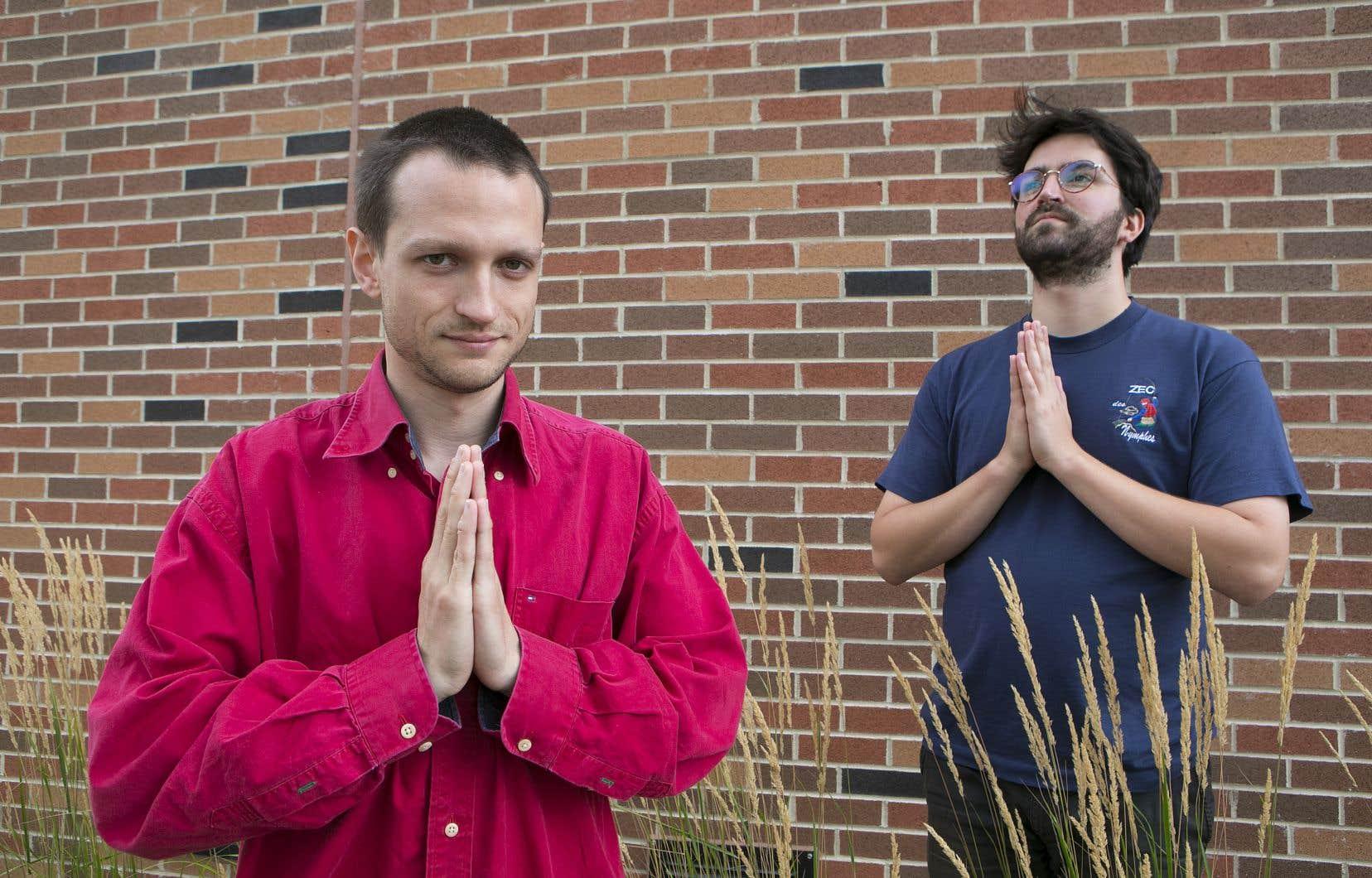 Alexis Raynault et Hubert Tanguay-Labrosse, codirecteurs de BOP pour «Le vaisseau-cœur»