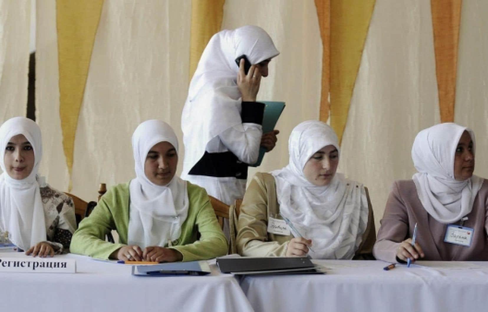 Conférence sur les femmes musulmanes et la démocratie en juillet dernier à Simferopol, en Ukraine.<br />
