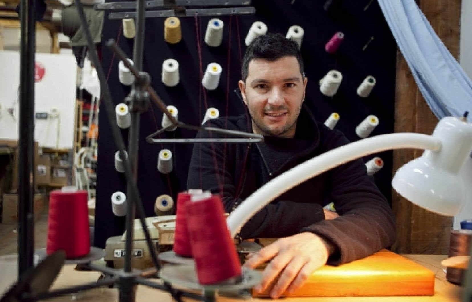 Pascal Benaksas-Couture propose des vêtements en coton biologoque.<br />