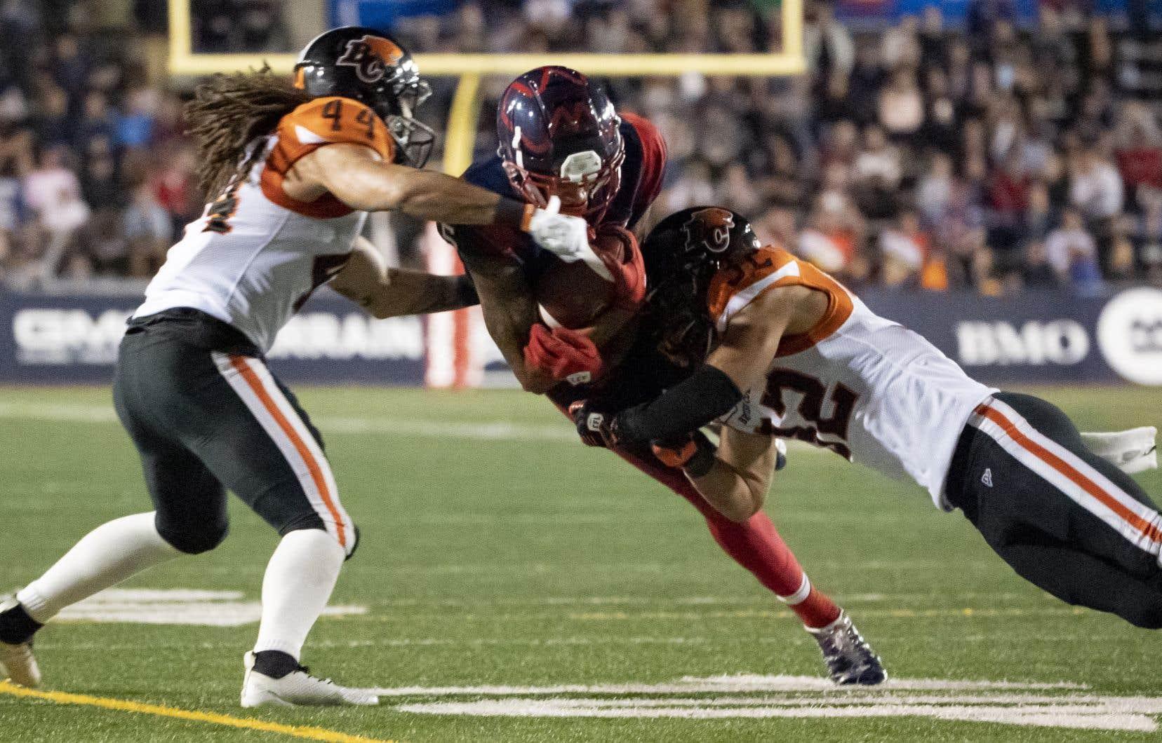 Les Alouettes de Montréal ont réussi à contenir les Lions de la Colombie-Britannique pour signer une victoire 21-16, leur troisième de suite.