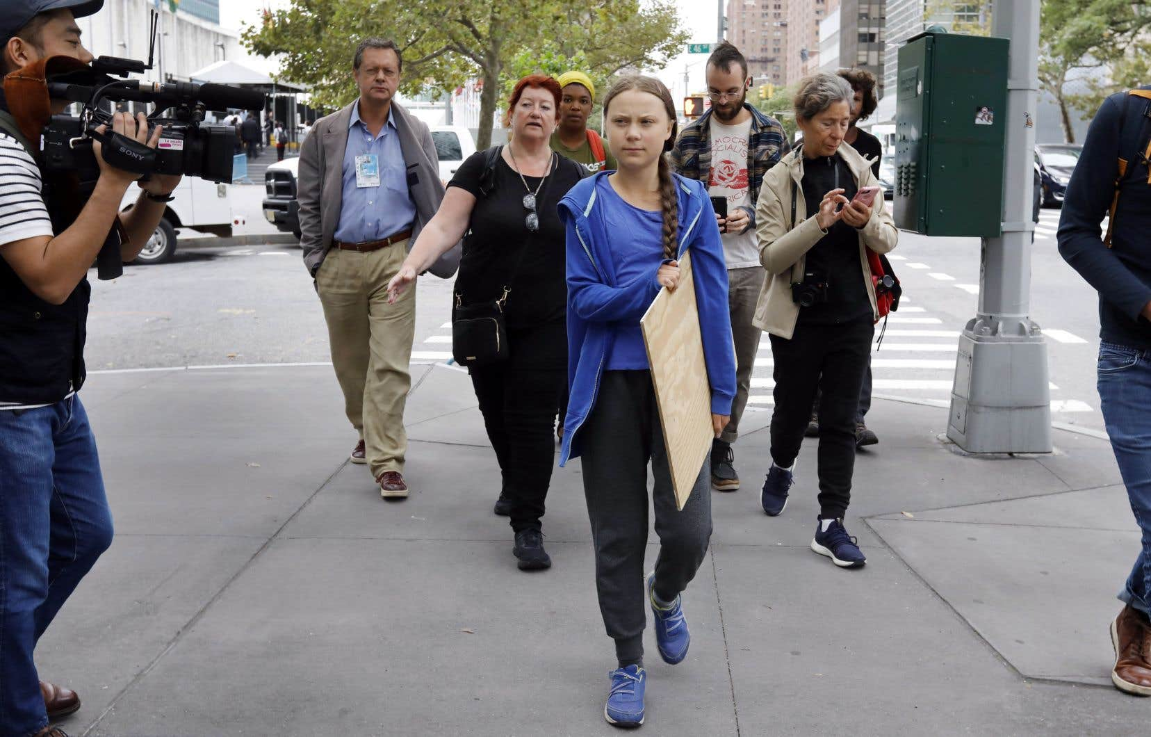 Greta Thunberg est présentement à New York pour répandre son message sur l'importance de lutter contre la crise climatique.