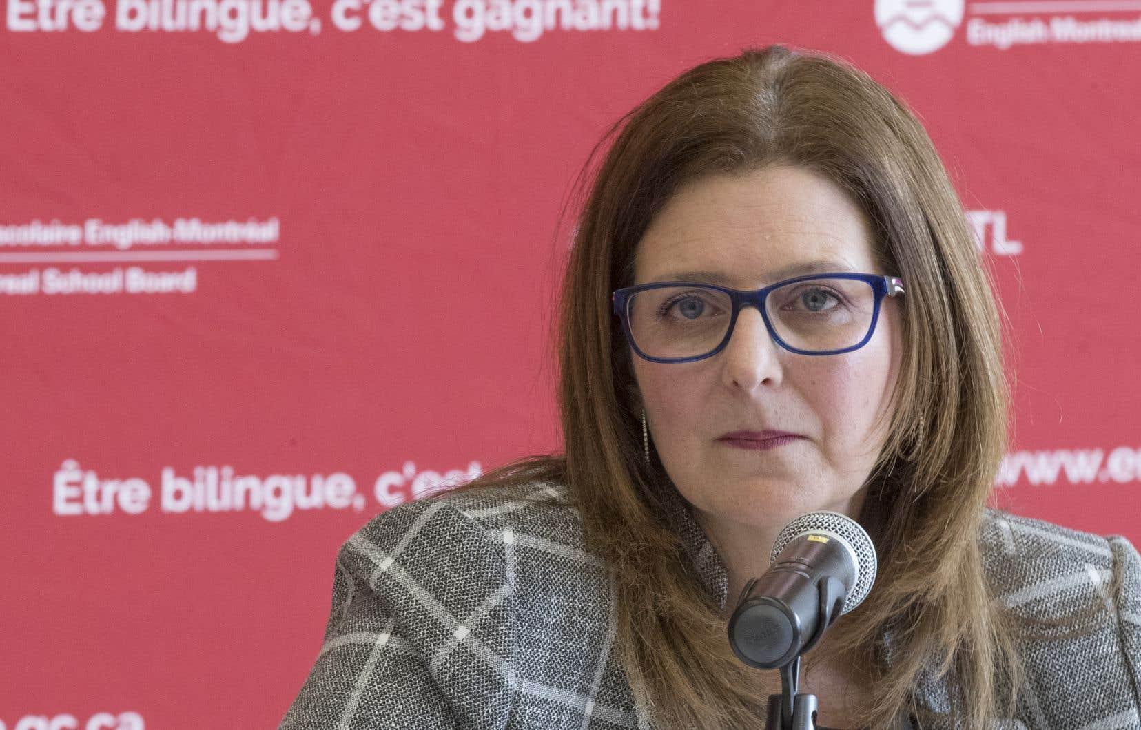 La présidente de la Commission scolaire English-Montreal, Angela Mancini