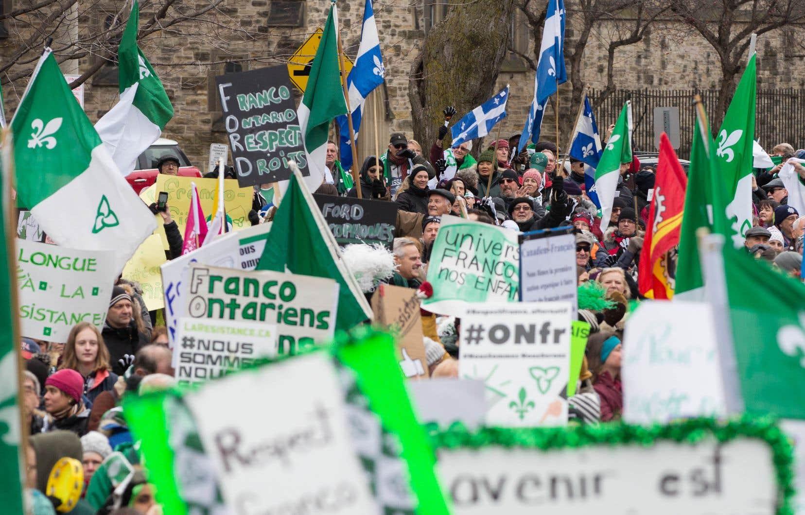 «La population francophone et anglophone du Québec a été solidaire des francophones de l'Ontario depuis l'automne 2018 dans leur résistance aux compressions du gouvernement Ford», rappellent les auteurs.