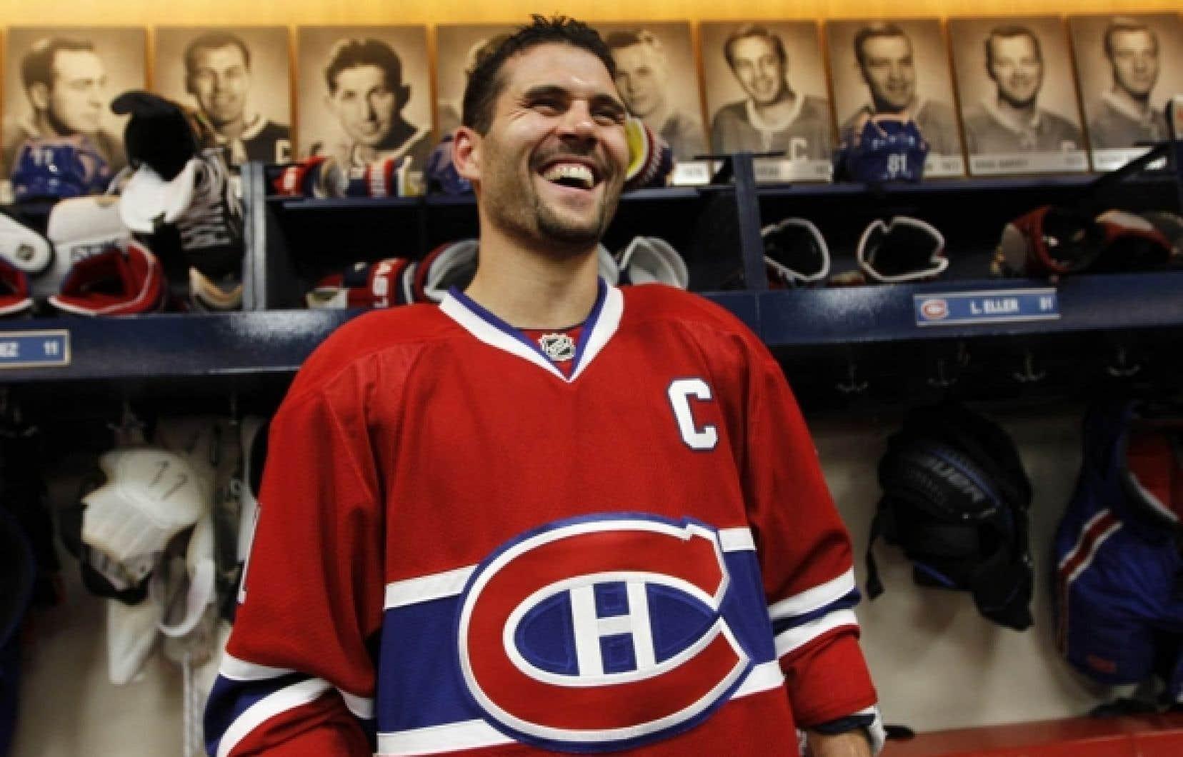 Brian Gionta s'est présenté hier avec un «C» sur son chandail. Sa nomination comme 28e capitaine de l'histoire du Canadien coulait de source, tant chez les dirigeants de l'équipe que chez les joueurs.<br />