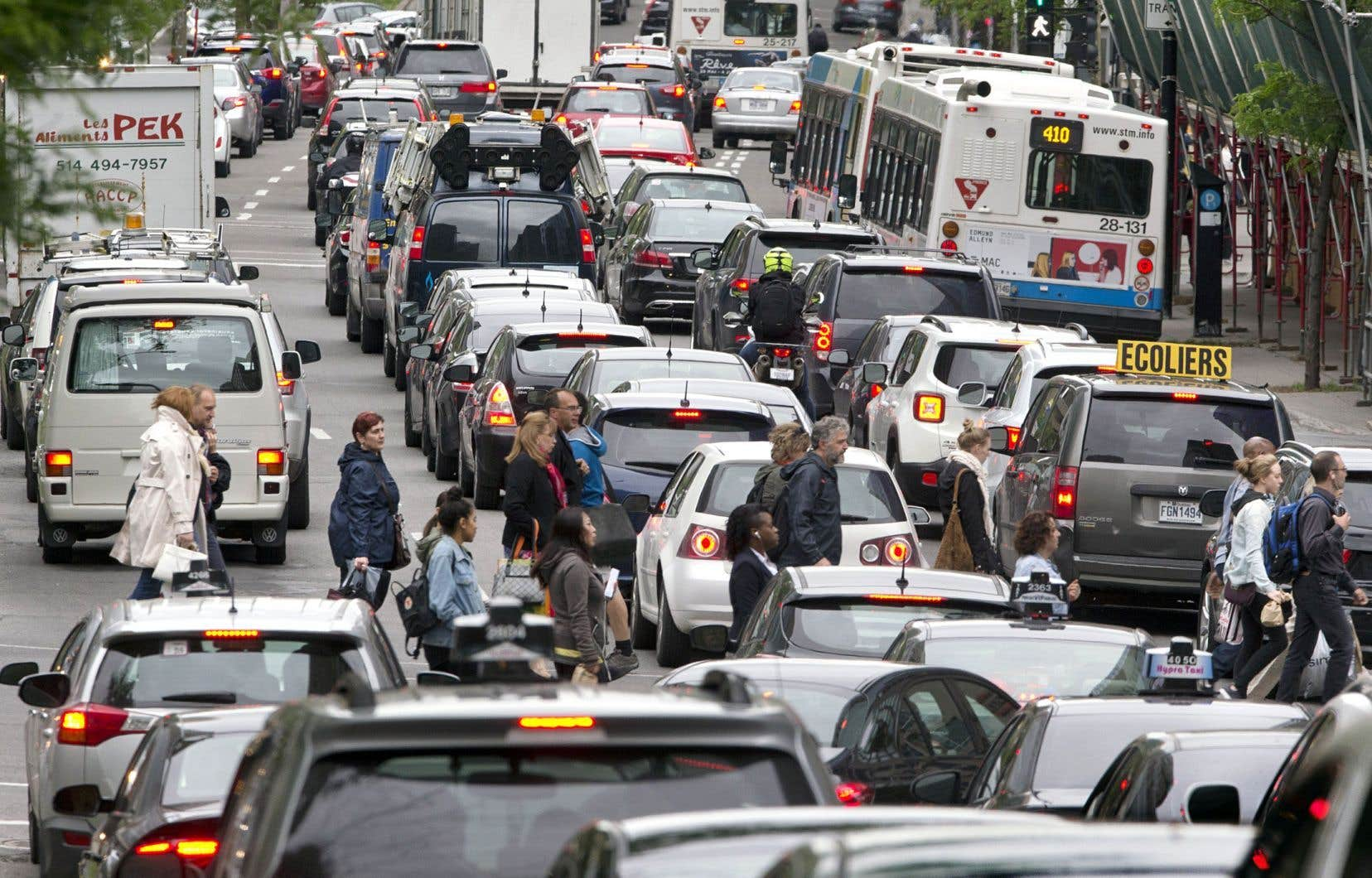 Les coûts de la congestion ont fait un bond de 252% depuis 2008 dans le Grand Montréal.