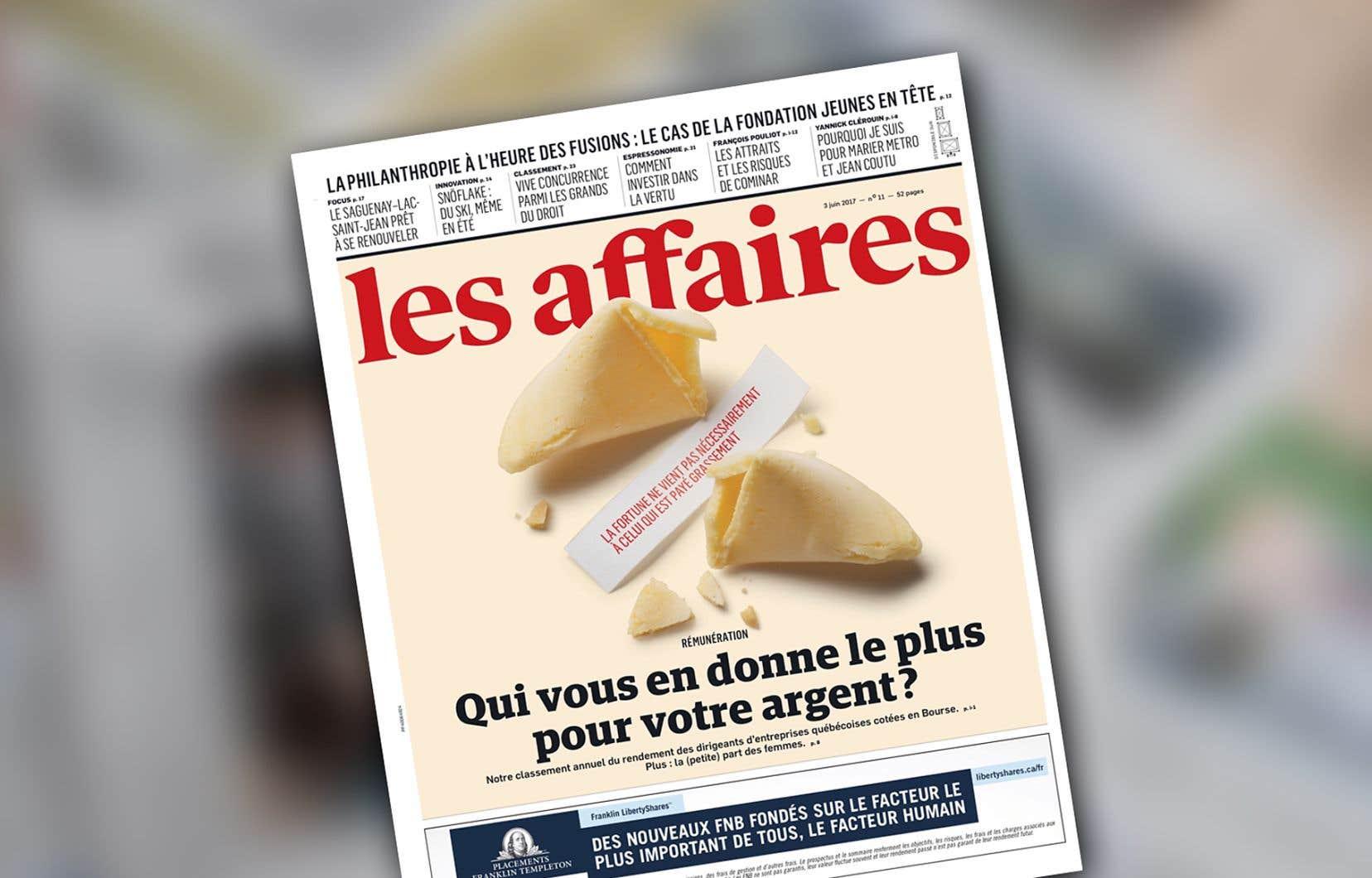 Le journal «Les Affaires»
