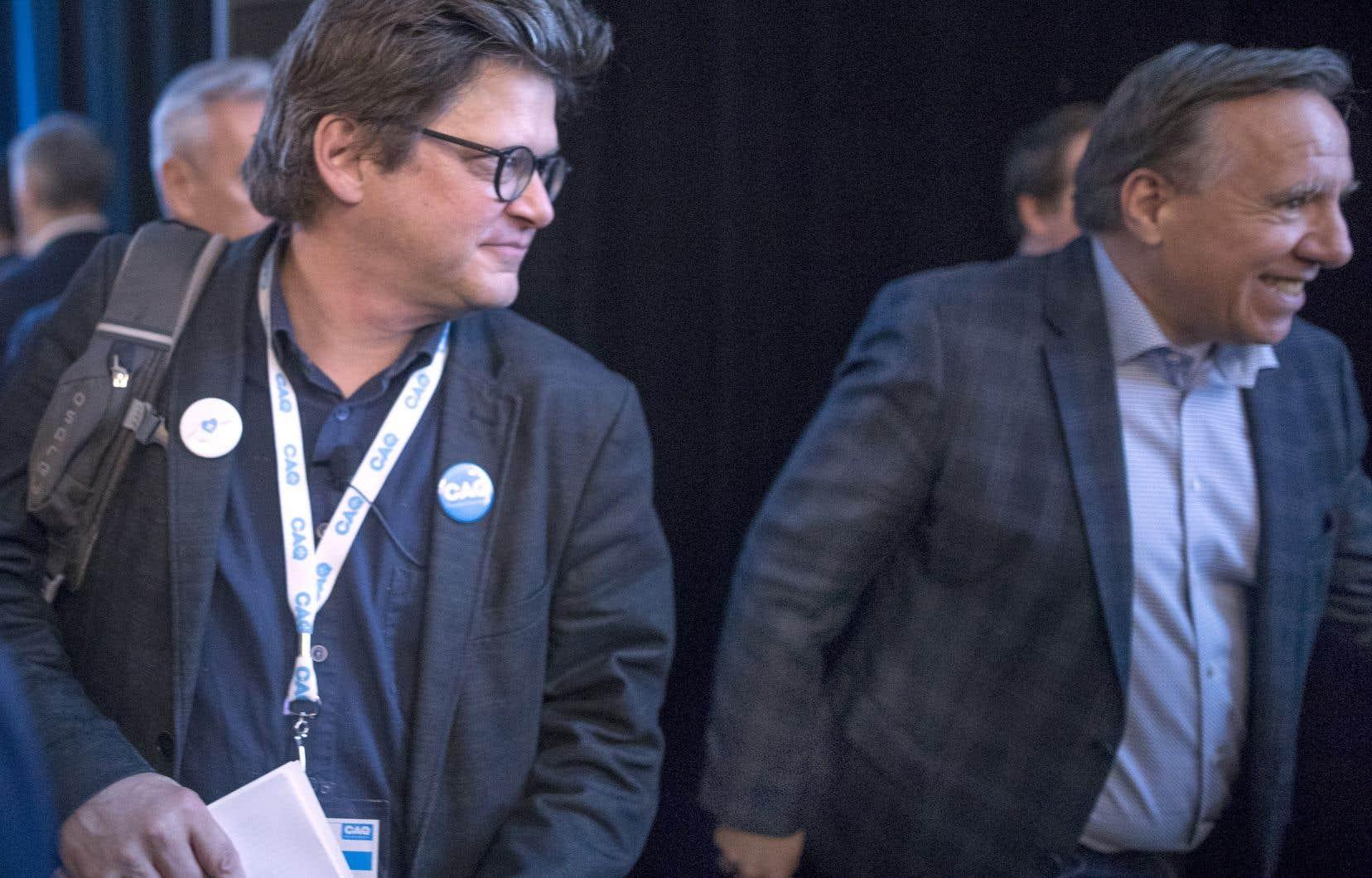 Dominic Champagneavait rencontré François Legault dans la foulée du lancement du Pacte l'an dernier et même adhéré à la Coalition avenir Québec en signe de bonne foi.
