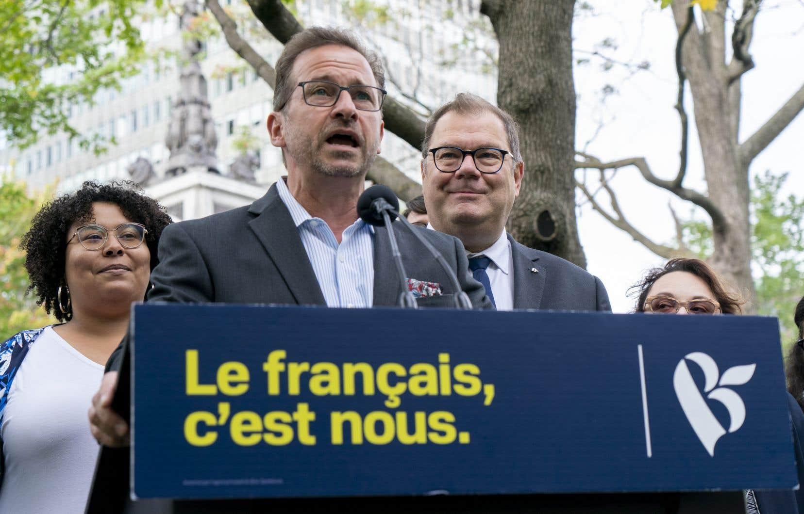 «C'est pas quelque chose de vilain, c'est pas quelque chose d'outrancier, c'est surtout pas quelque chose de raciste, c'est quelque chose de responsable», s'est défendule chef du Bloc québécois, Yves-François Blanchet.