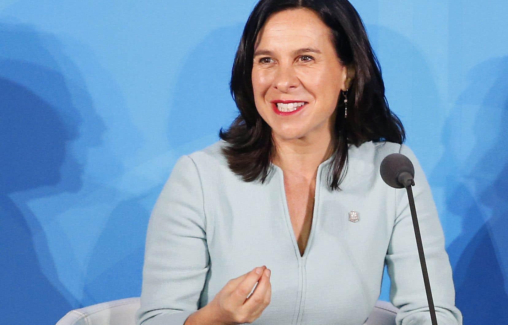 Valérie Plante lors de son allocution prononcée devant l'ONU à New York, lundi passé.