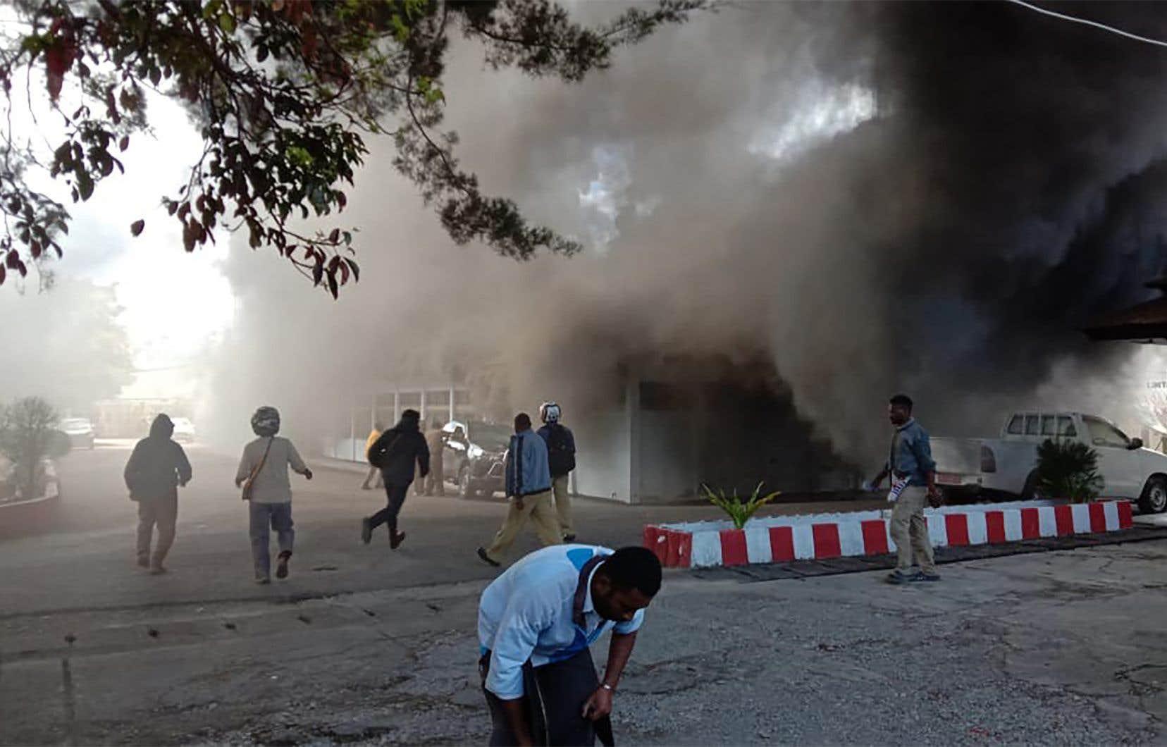 Dans la ville de Wamena, au centre de la Papouasie, 26 personnes sont mortes après une manifestation lundi.