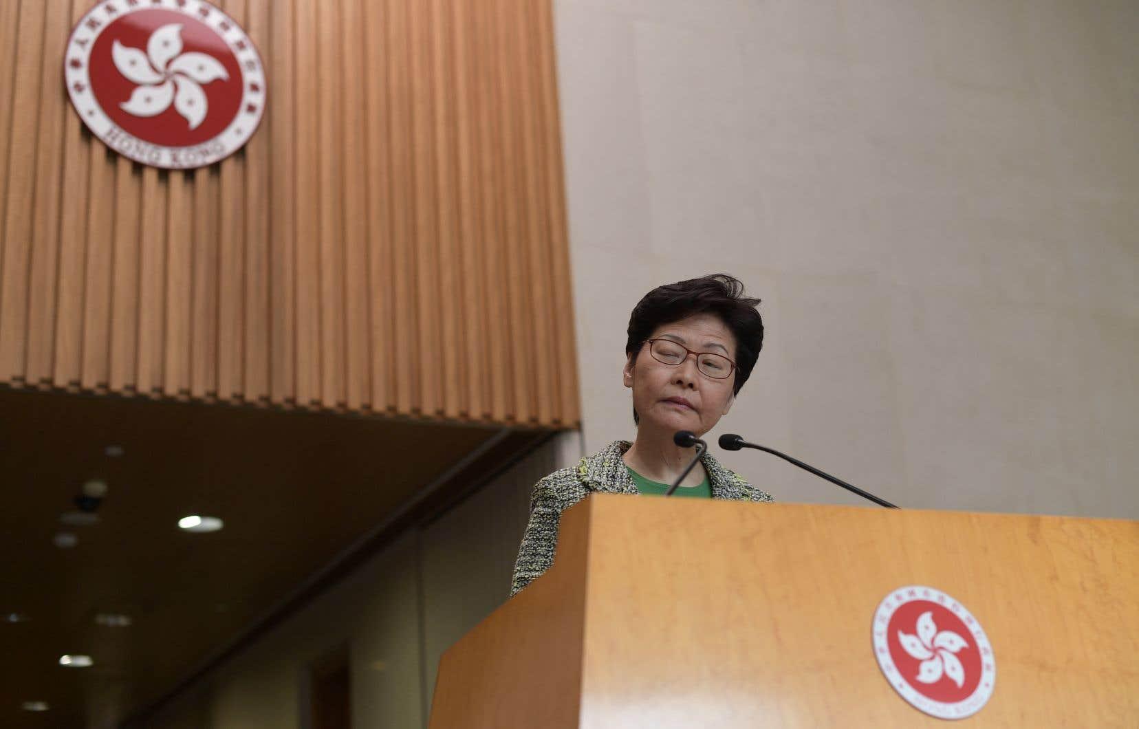 La chef de l'exécutif hongkongais Carrie Lam