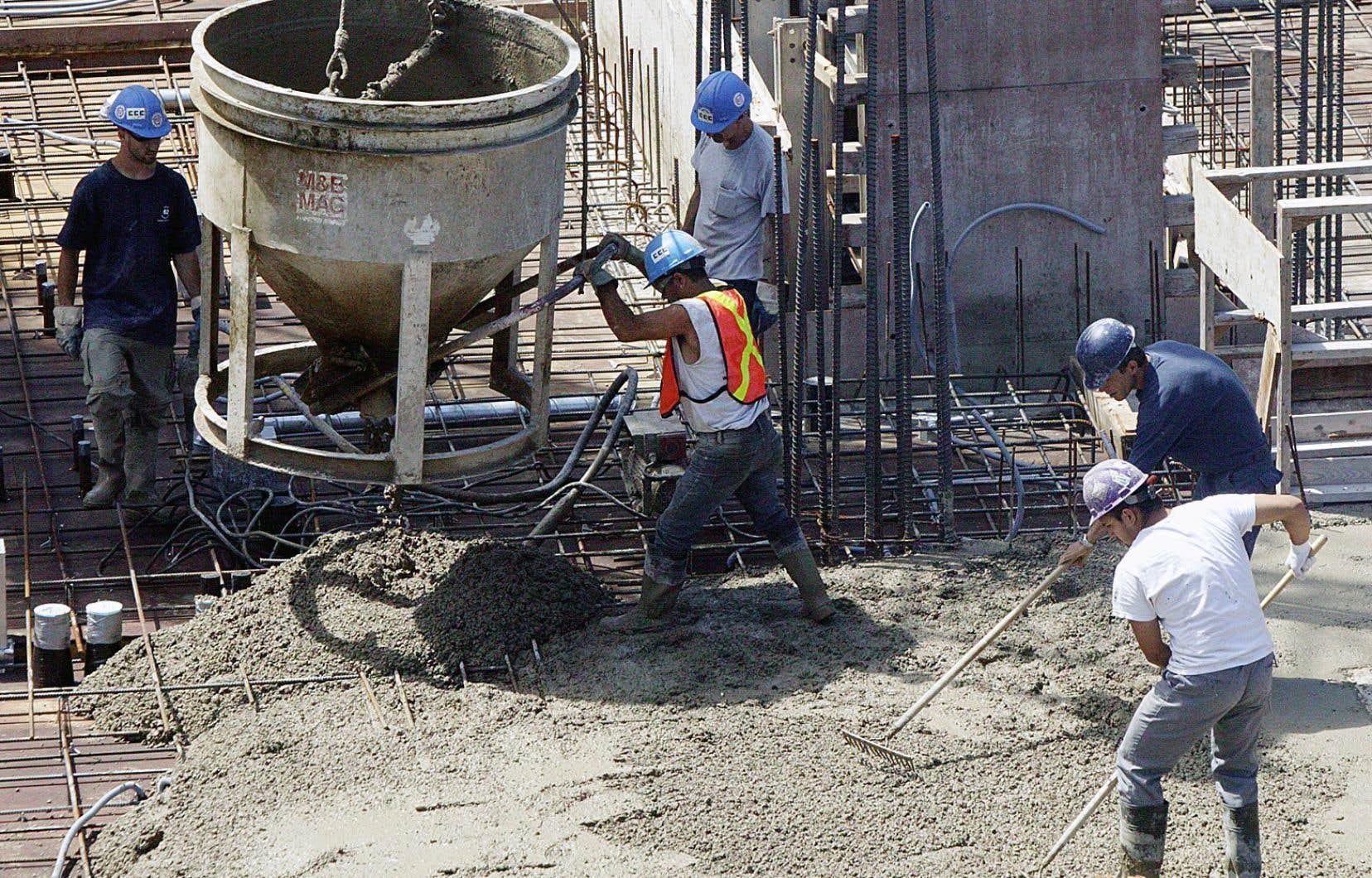 La croissance découle notamment de la bonne santé de l'industrie de la construction.