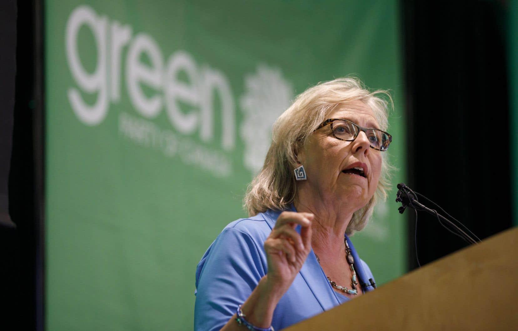 «On doit annuler l'oléoduc Trans Mountain», a rappelé ElizabethMay.