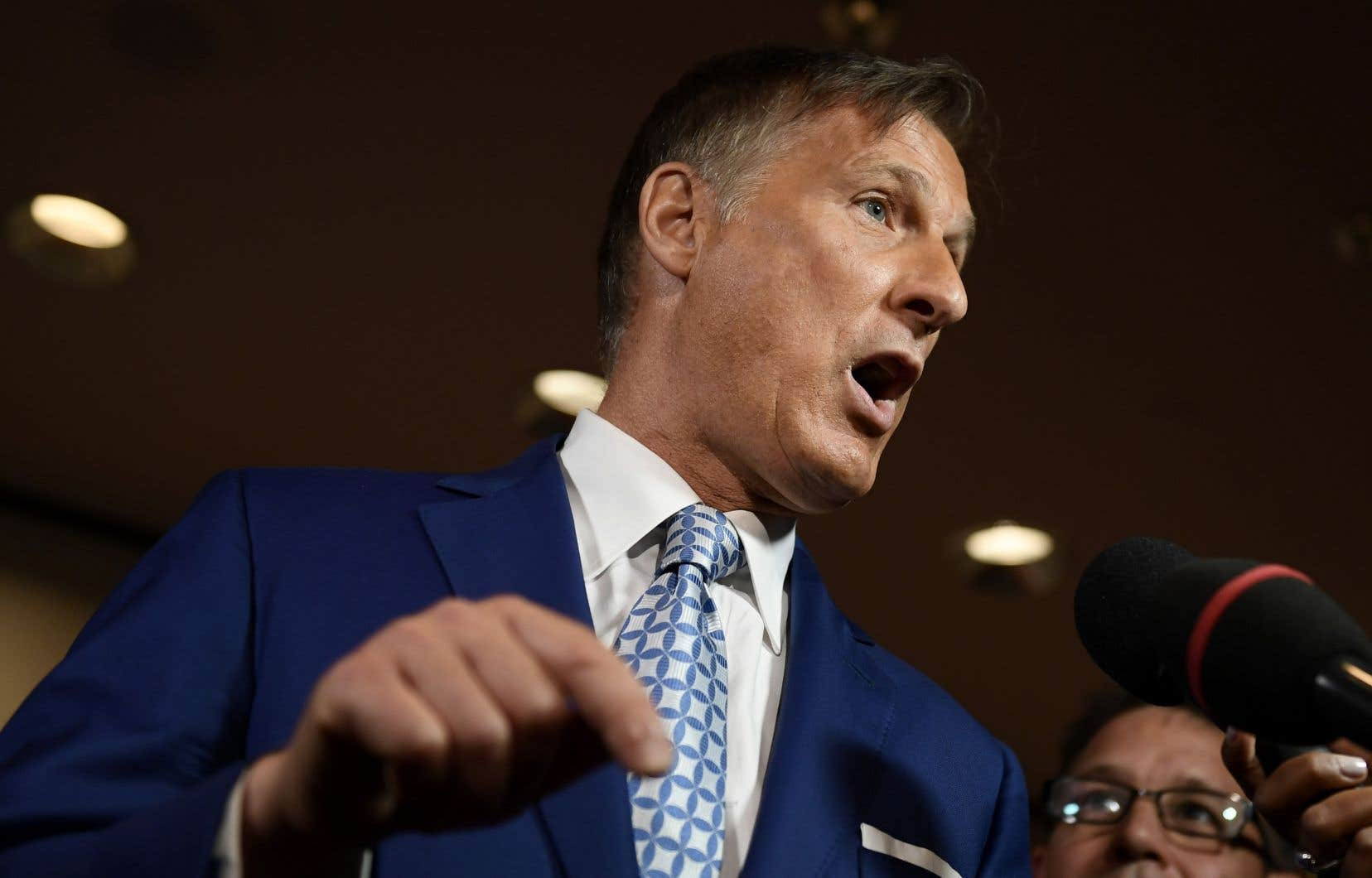Le chef du Parti populaire du Canada, Maxime Bernier