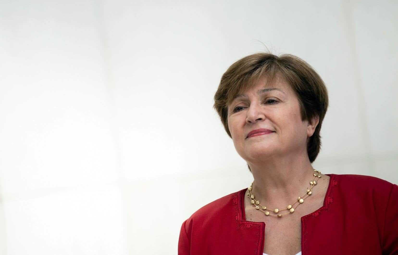 Kristalina Georgieva, qui était la directrice générale de la Banque mondiale, était la seule candidate en lice pour le poste.