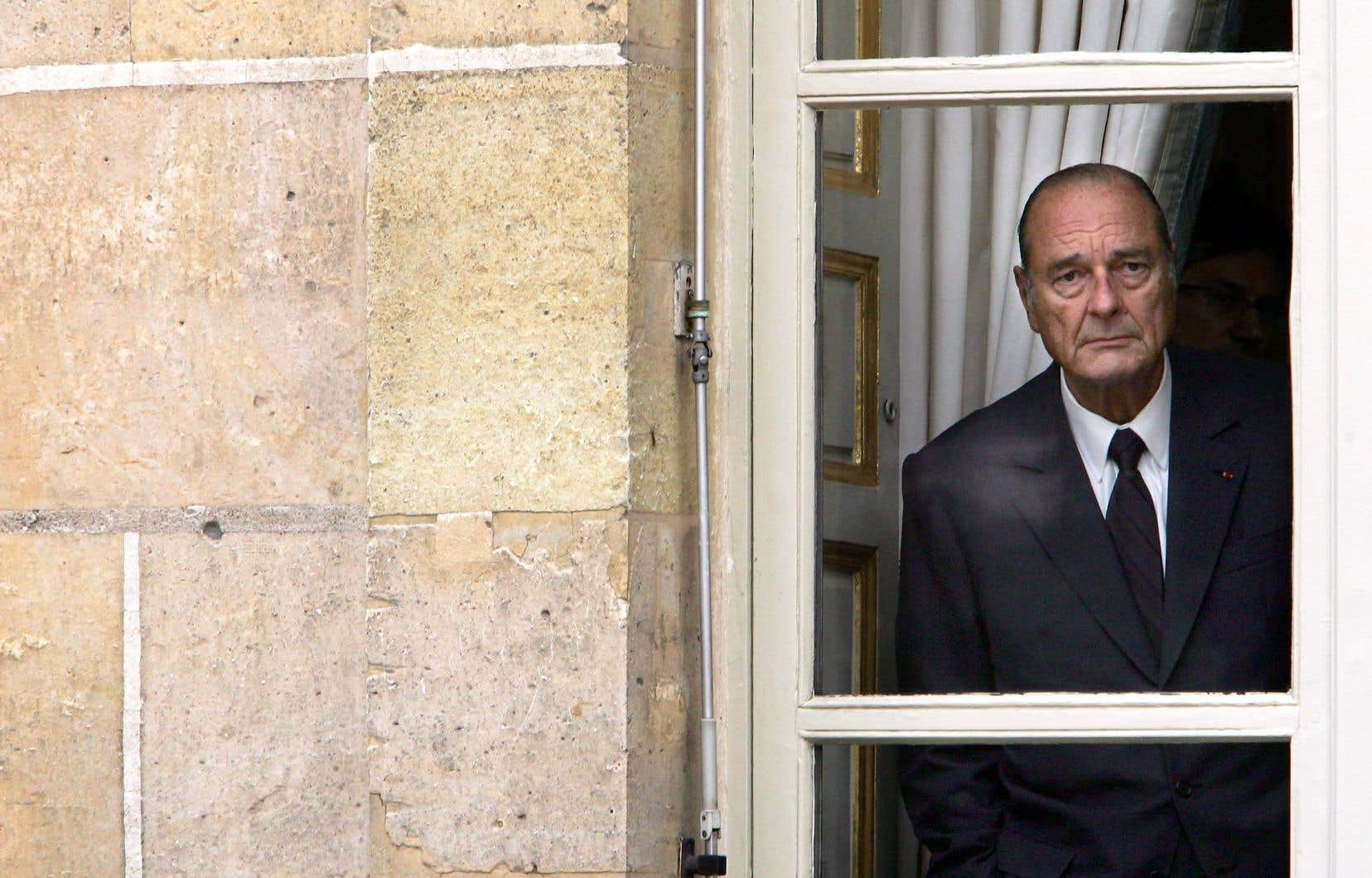 Jacques Chirac, à l'Élysée, en octobre 2005