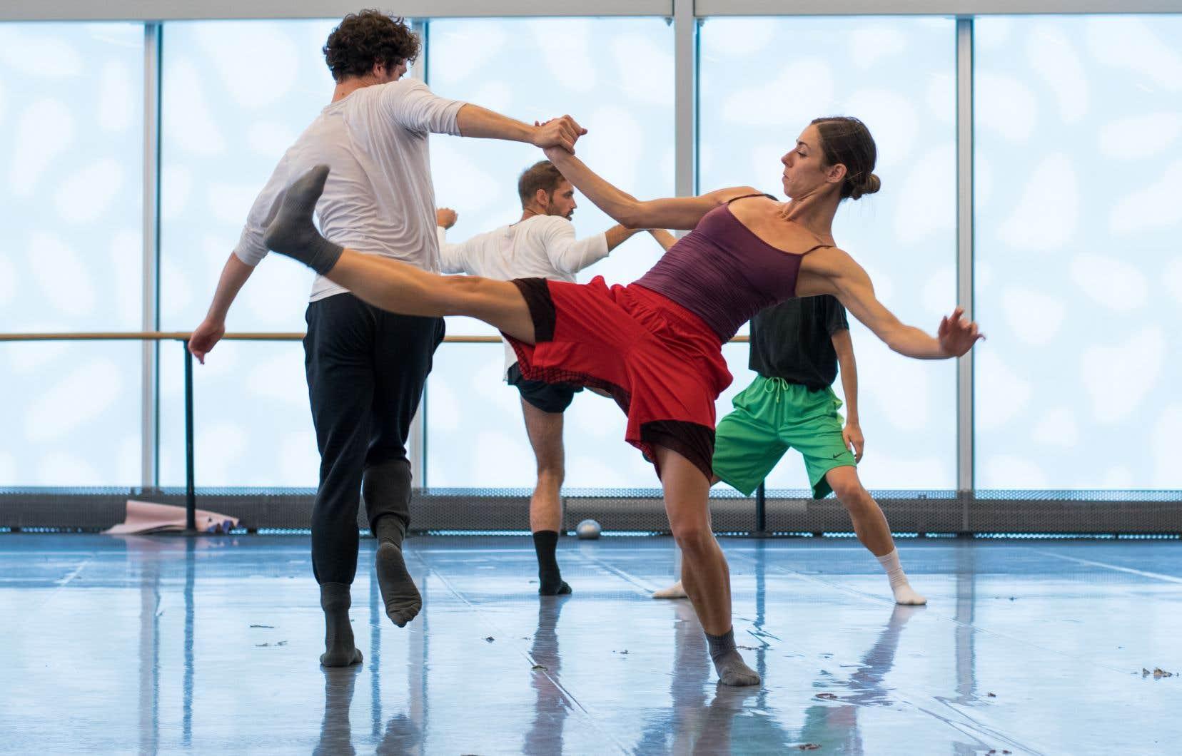 Les danseurs Maude Sabourin et James Lyttle lors d'une répétition du ballet «Carmina Burana».